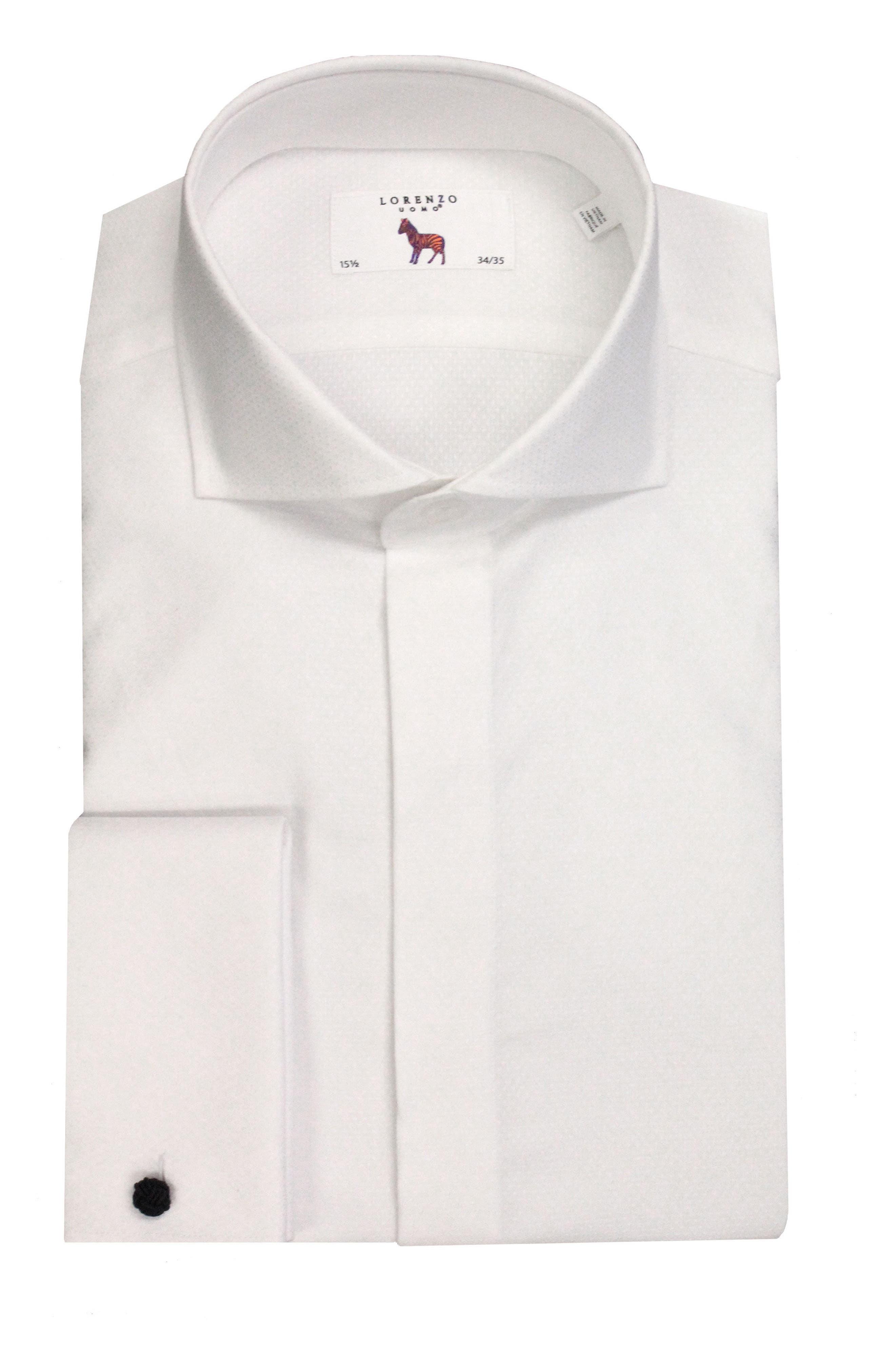 Trim Fit Tuxedo Shirt,                             Main thumbnail 1, color,                             100