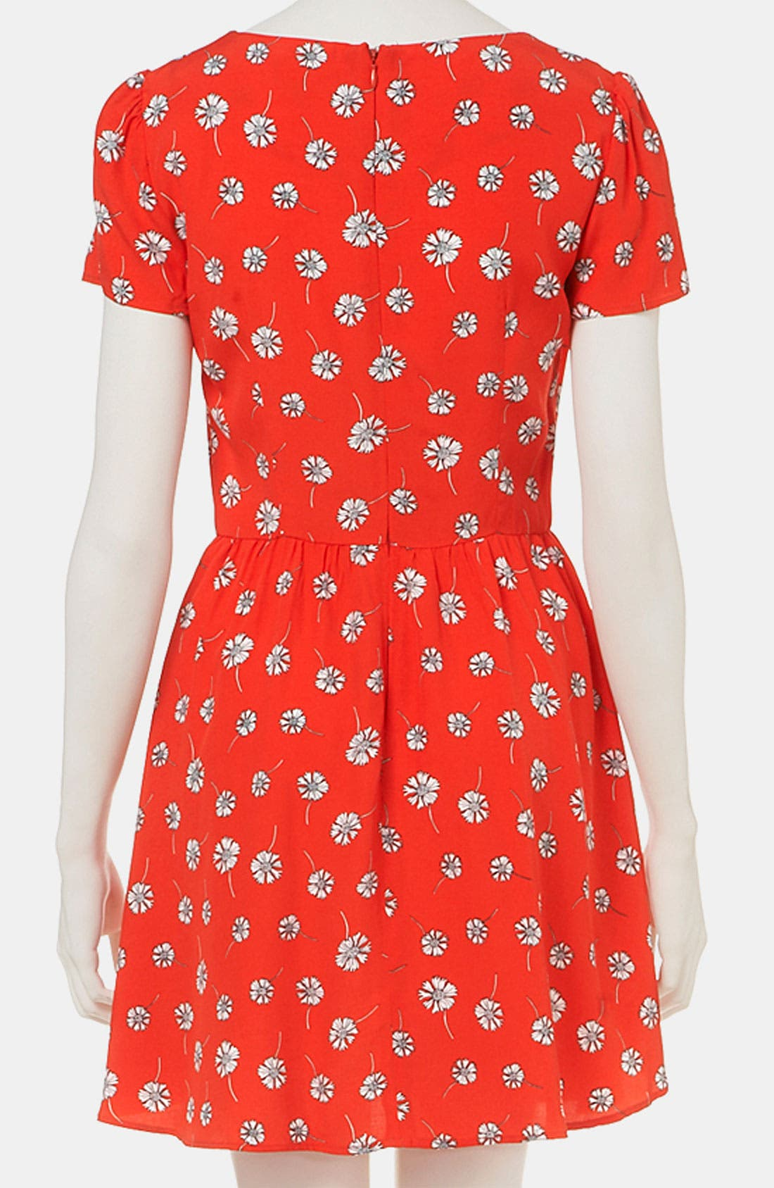 Daisy Print Dress,                             Alternate thumbnail 2, color,                             600
