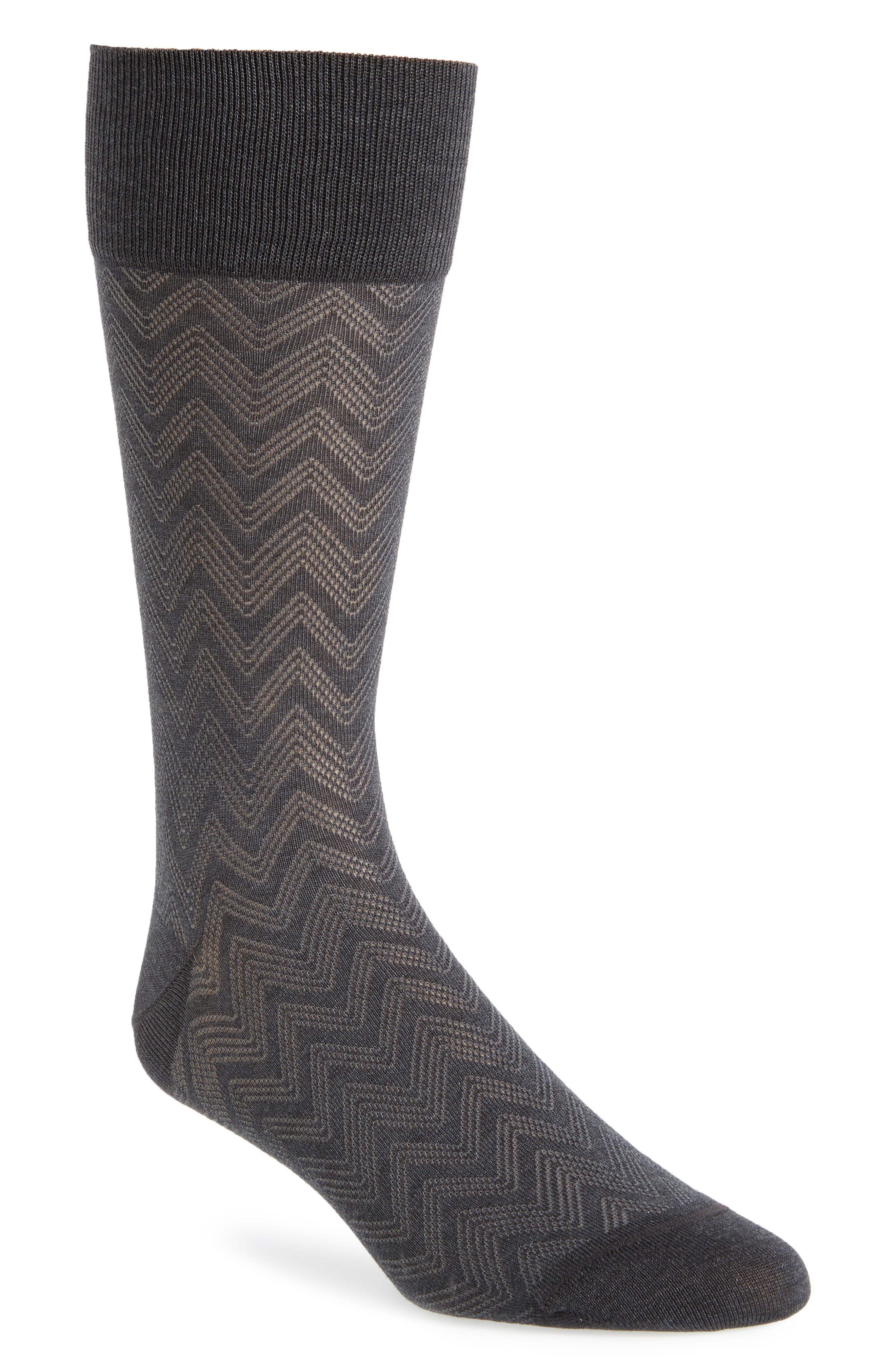 Chevron Socks,                             Main thumbnail 2, color,