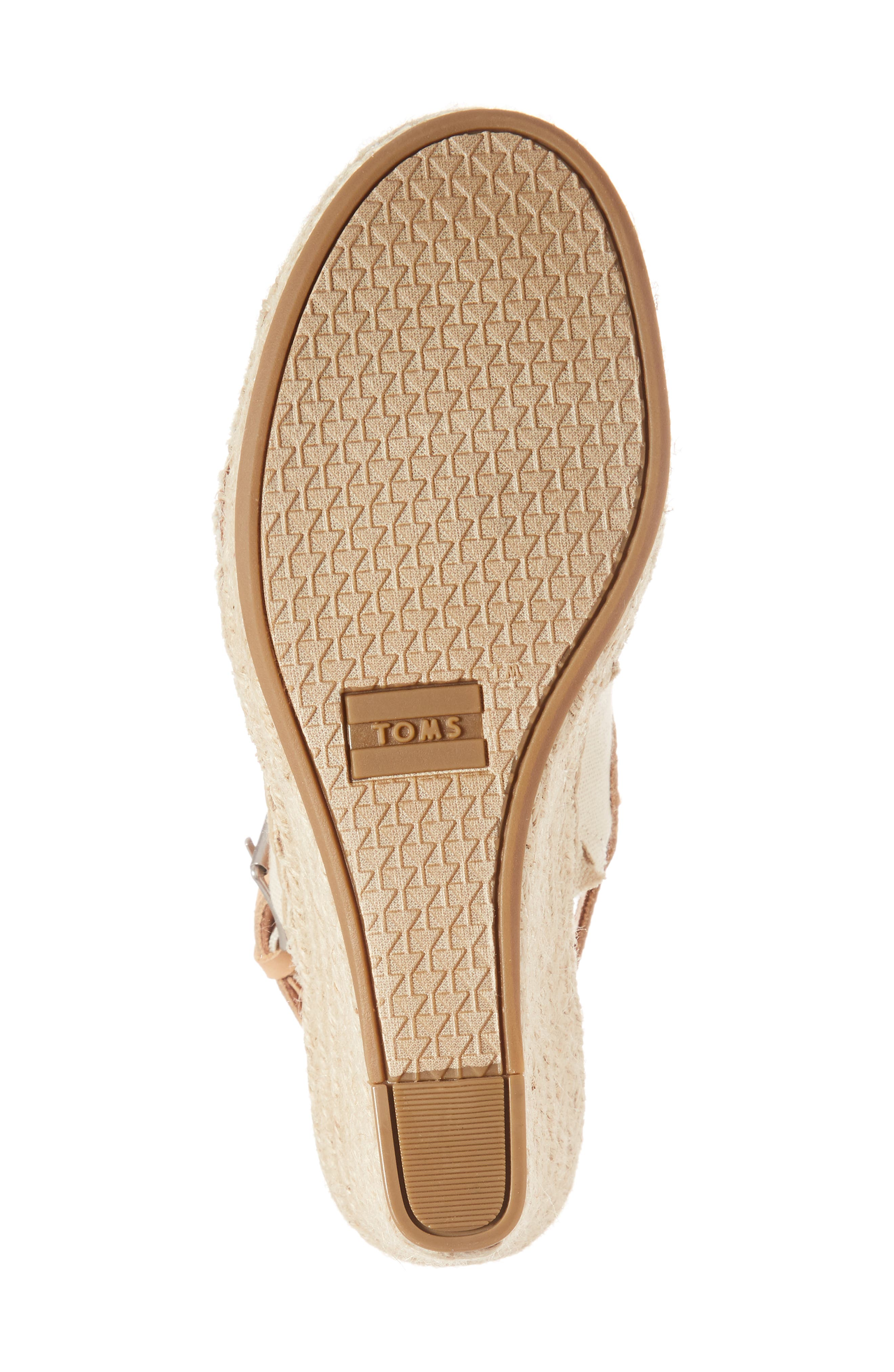 Monica Slingback Wedge,                             Alternate thumbnail 6, color,                             NATURAL HEMP/ LEATHER