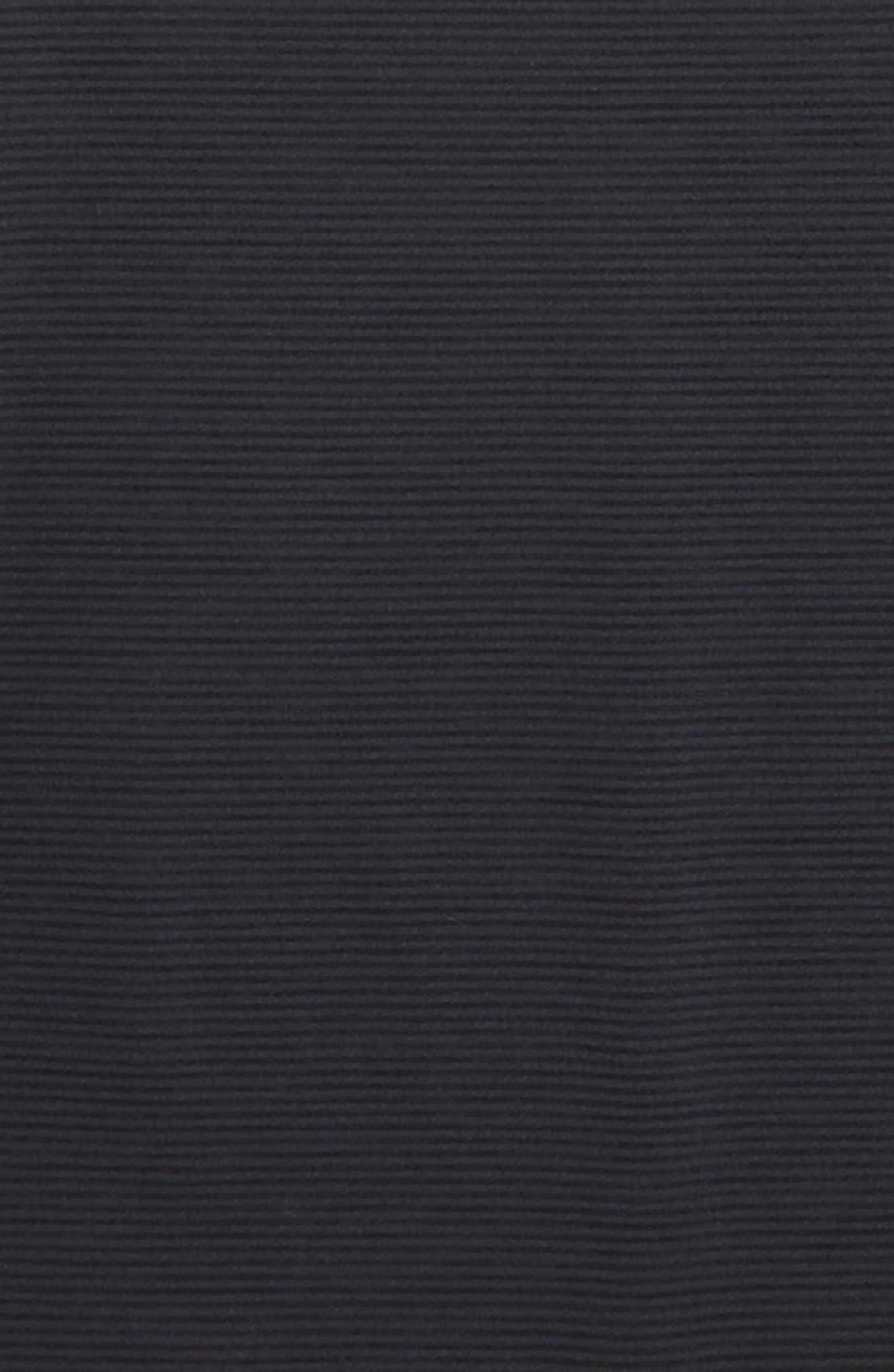 Stripe Knit & Mesh Top,                             Alternate thumbnail 2, color,                             BLACK- GREY STRIPE