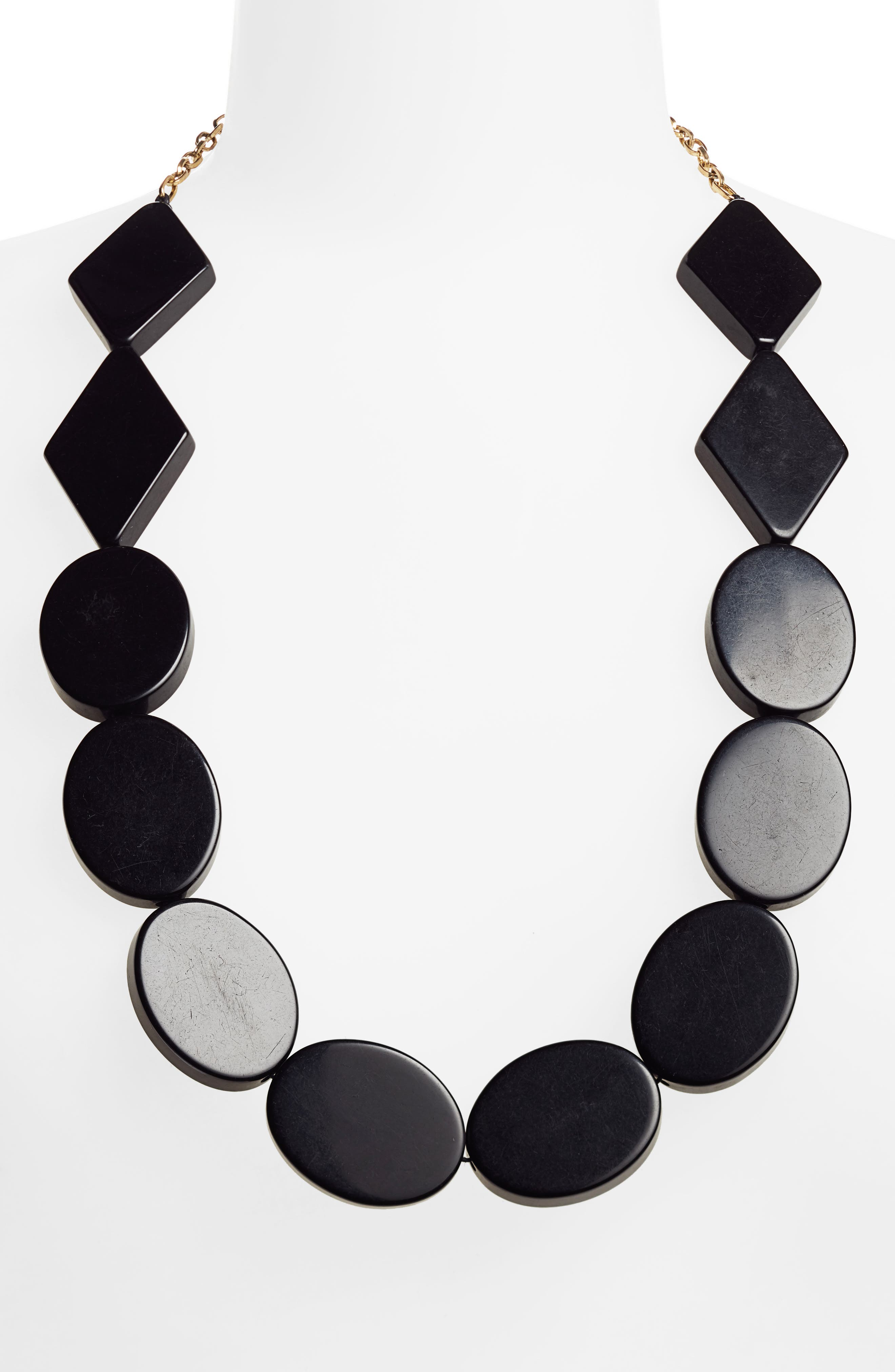 Panton Necklace,                             Alternate thumbnail 2, color,                             BLACK