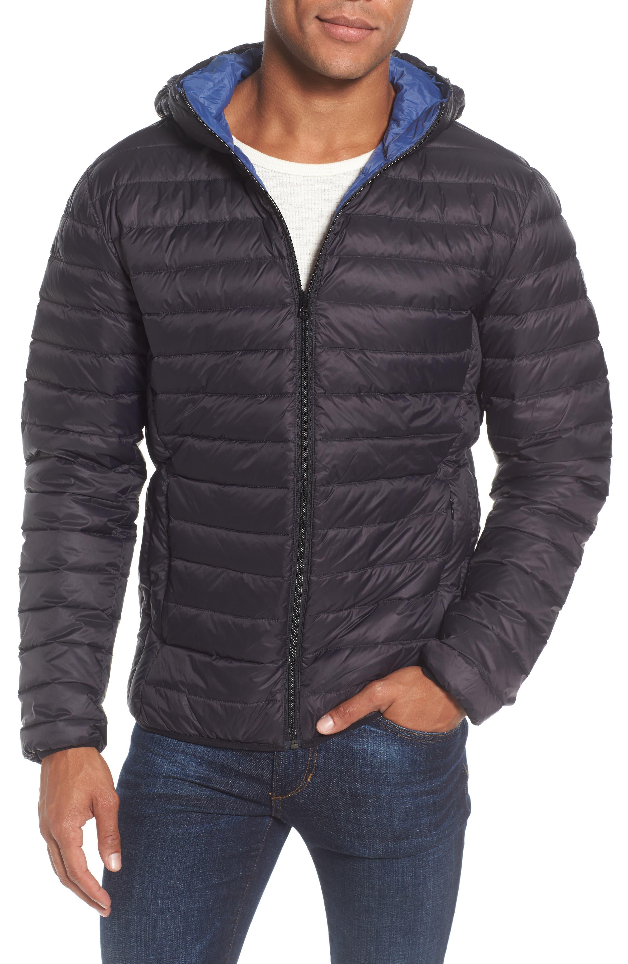 Zip Front Down Jacket,                         Main,                         color, 001
