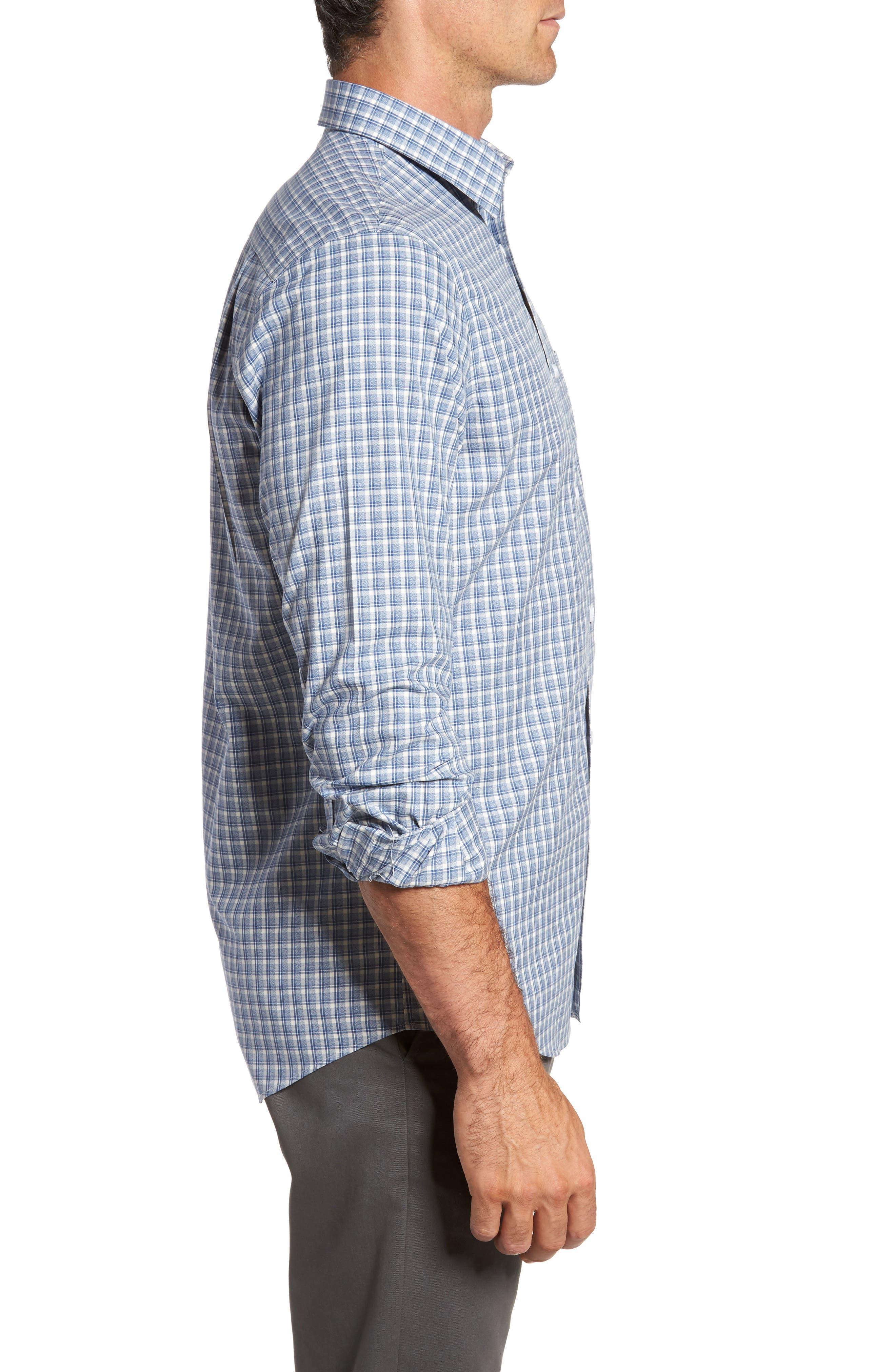 Smartcare<sup>™</sup> Regular Fit Plaid Sport Shirt,                             Alternate thumbnail 21, color,