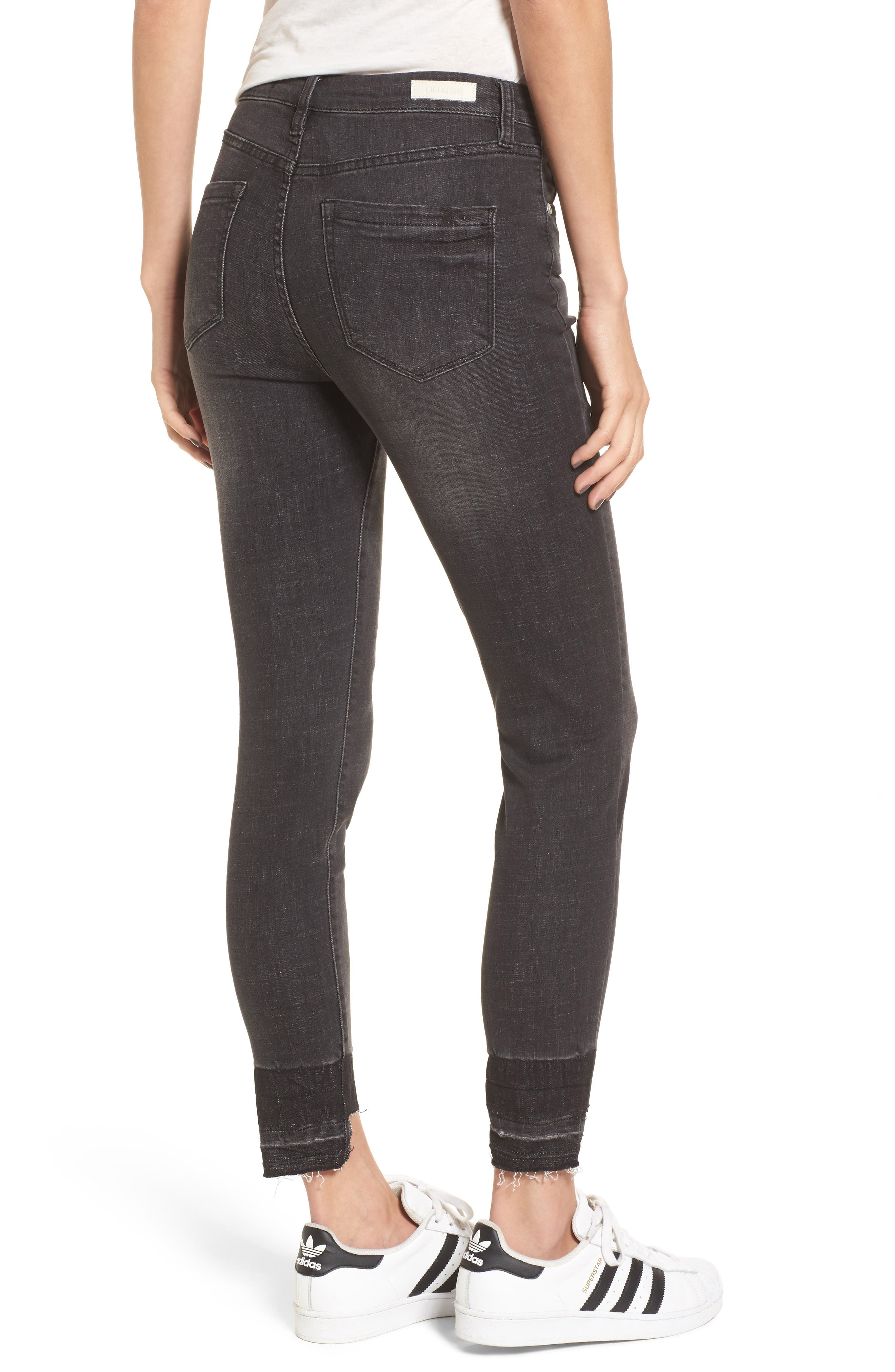 Cry Baby Release Hem Skinny Jeans,                             Alternate thumbnail 2, color,                             001