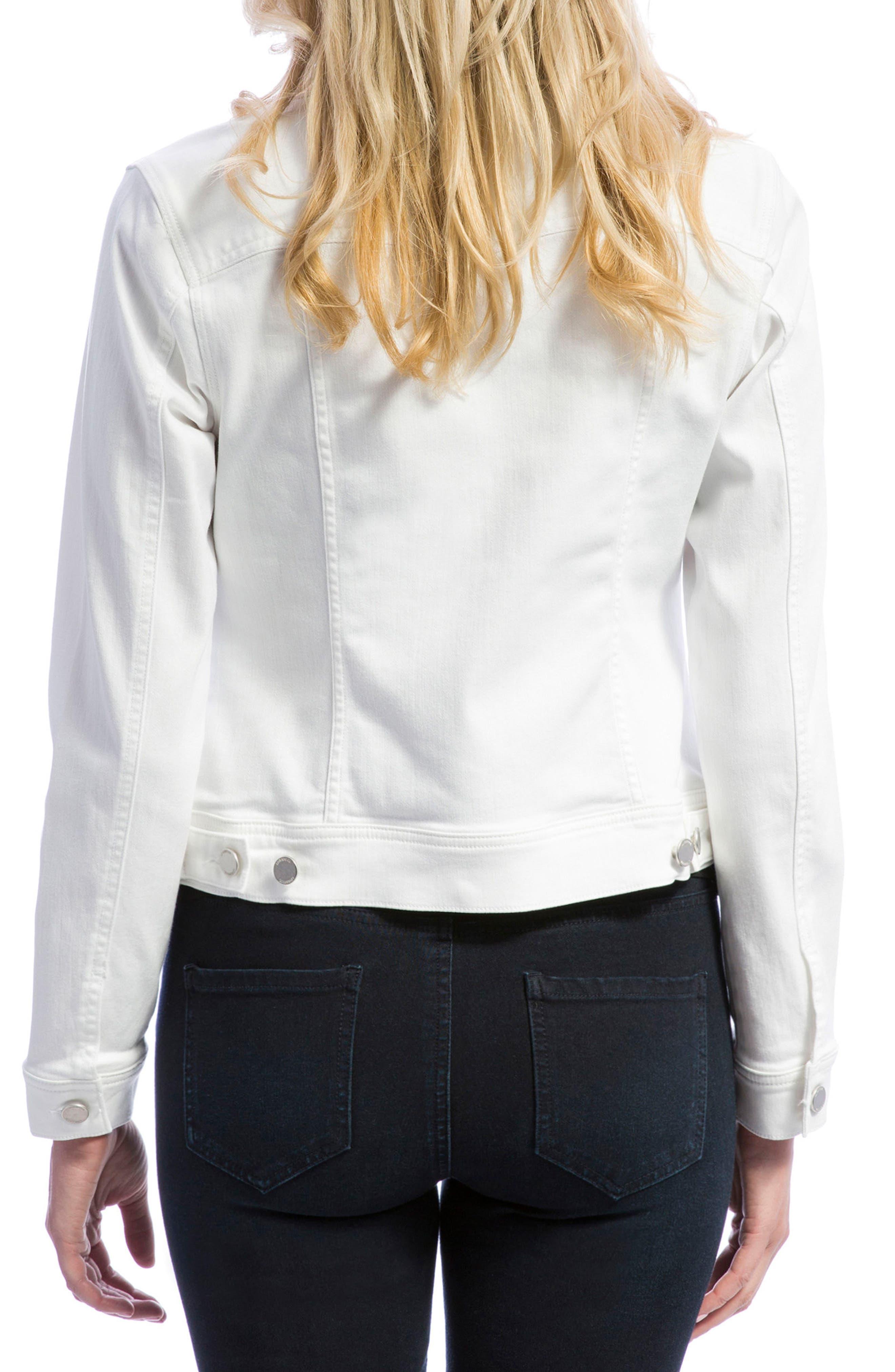 Denim Jacket,                             Alternate thumbnail 2, color,                             BRIGHT WHITE