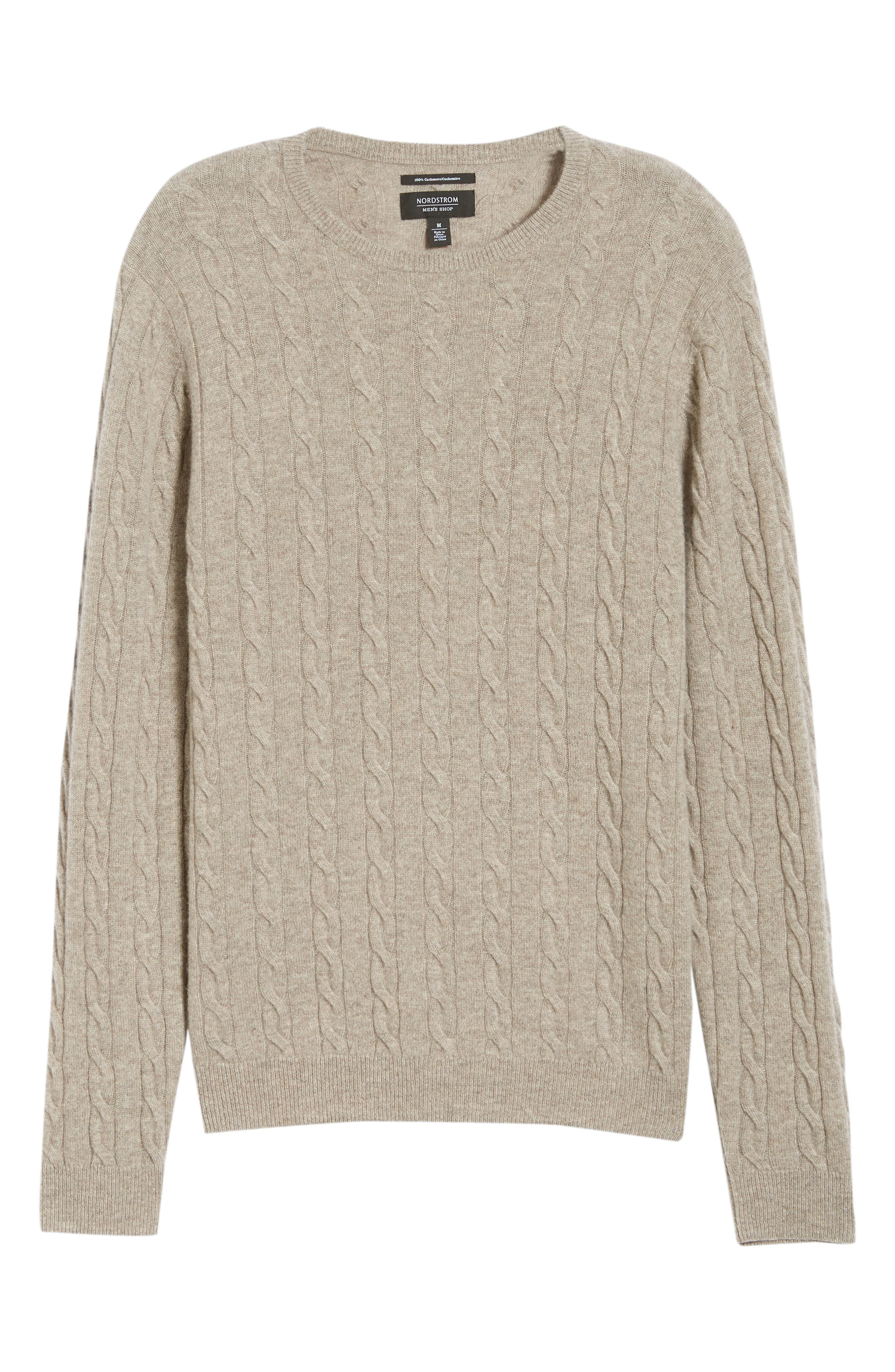 Cashmere Cable Knit Sweater,                             Alternate thumbnail 6, color,                             270