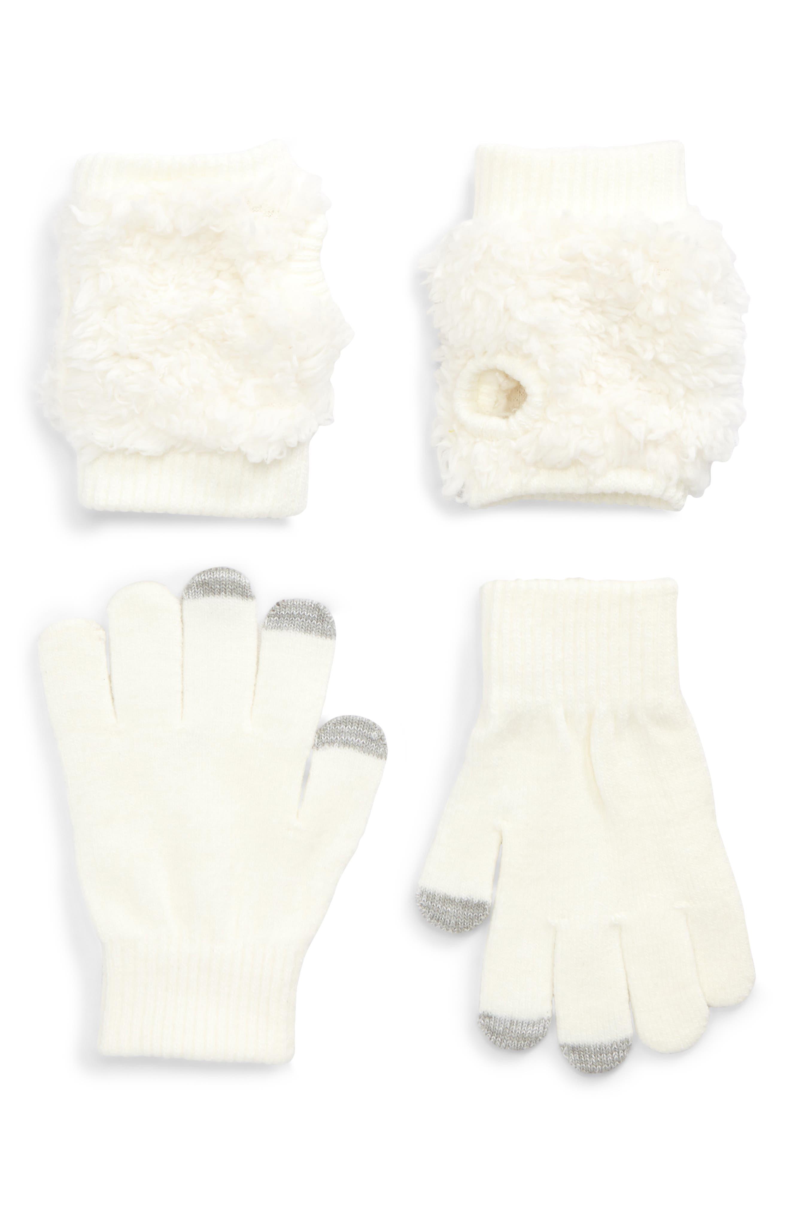 Bunny Convertible Gloves,                             Alternate thumbnail 2, color,                             901