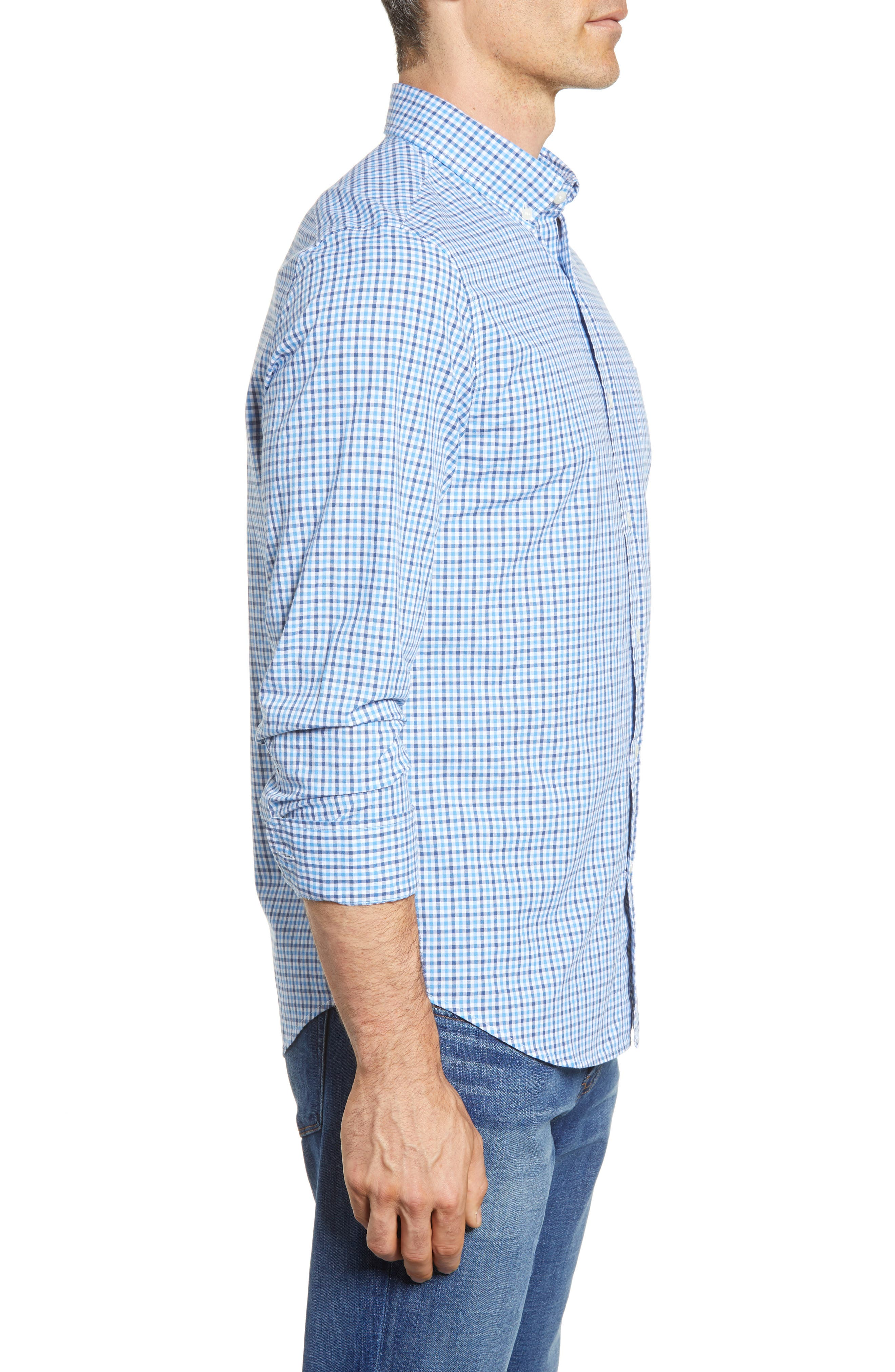 Point Gammon Slim Fit Gingham Sport Shirt,                             Alternate thumbnail 3, color,                             461