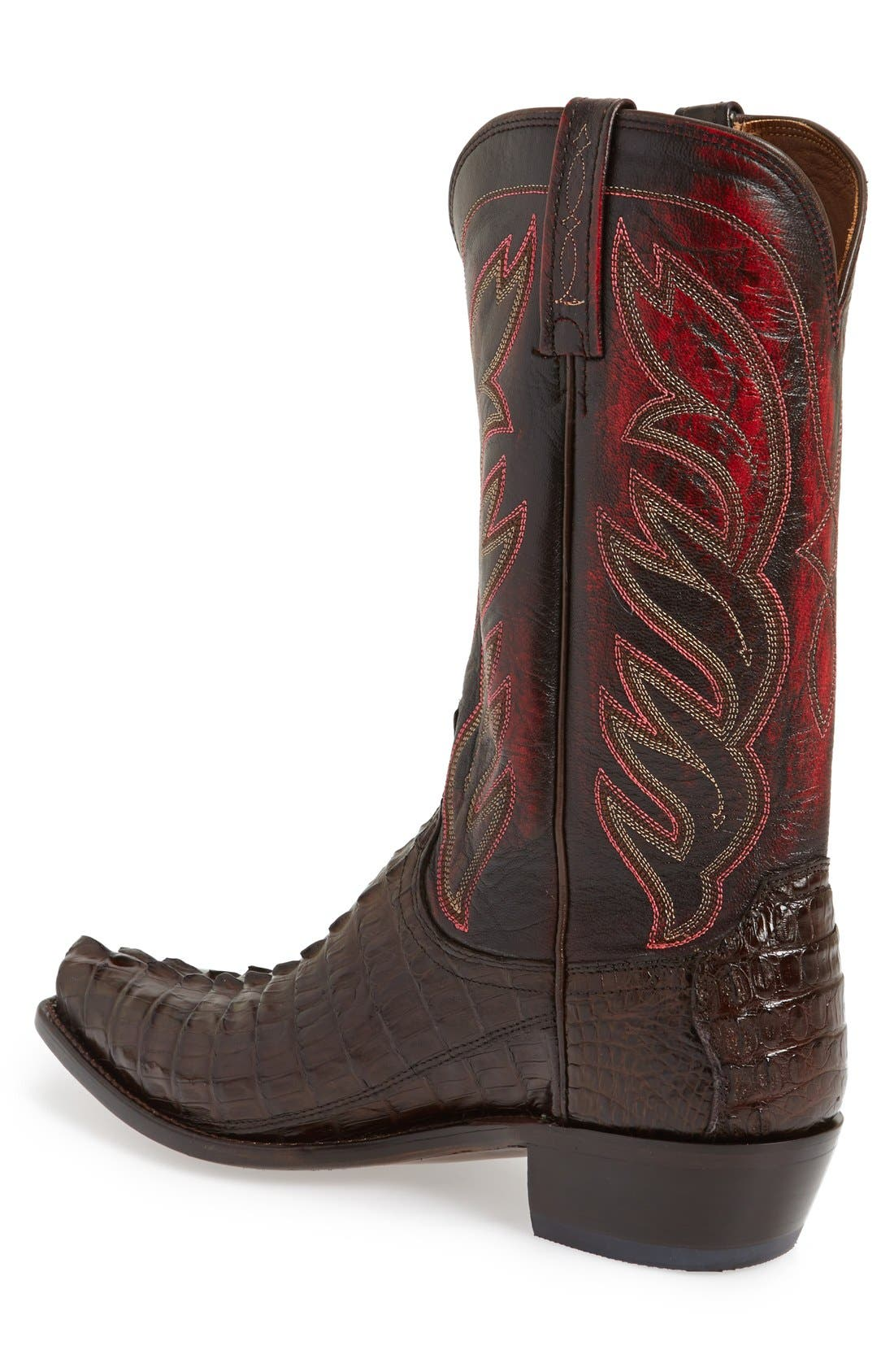 LUCCHESE,                             'Landon' Western Boot,                             Alternate thumbnail 3, color,                             214