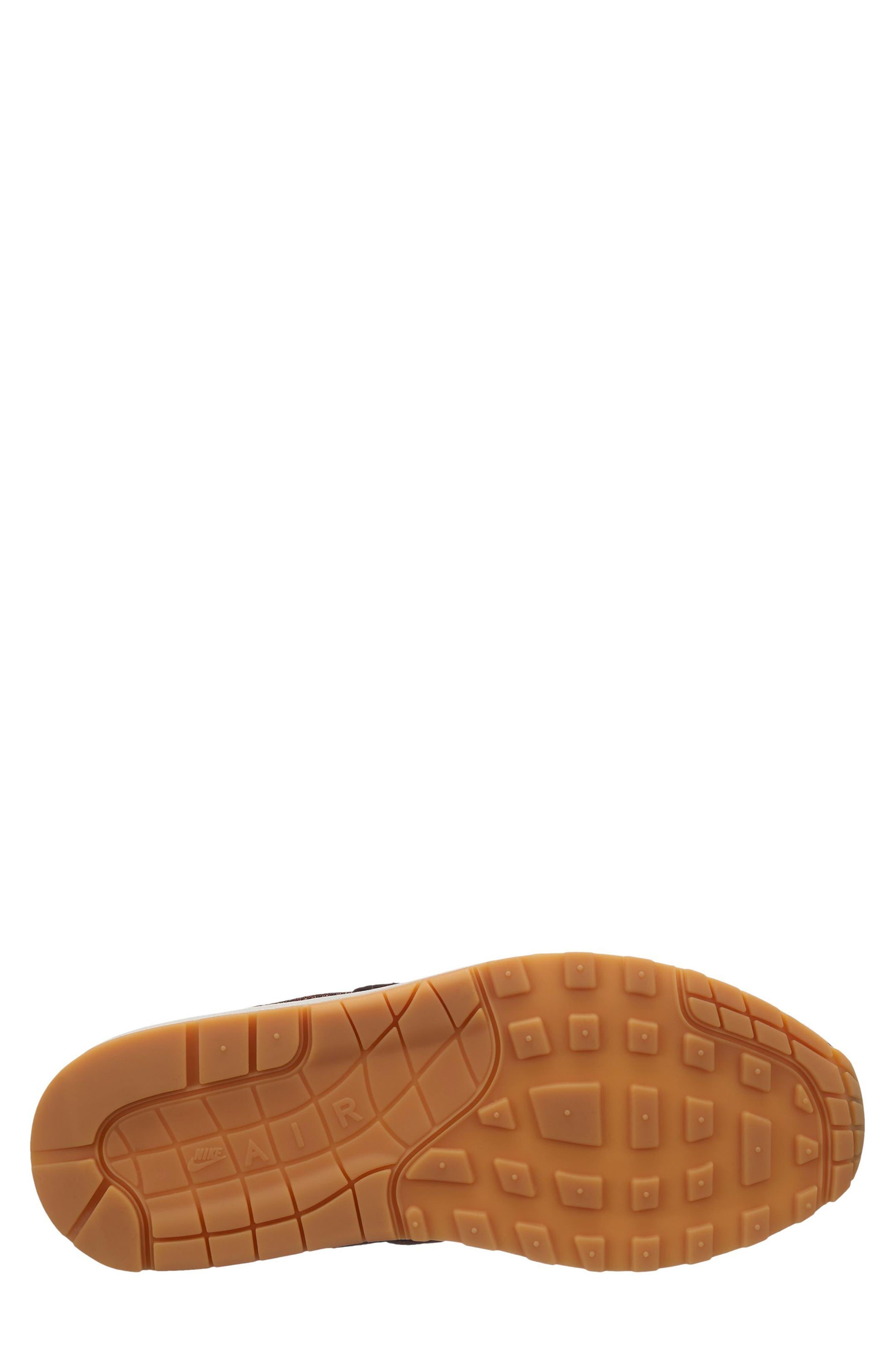 Air Max 1 Premium Sneaker,                             Alternate thumbnail 8, color,                             GREY