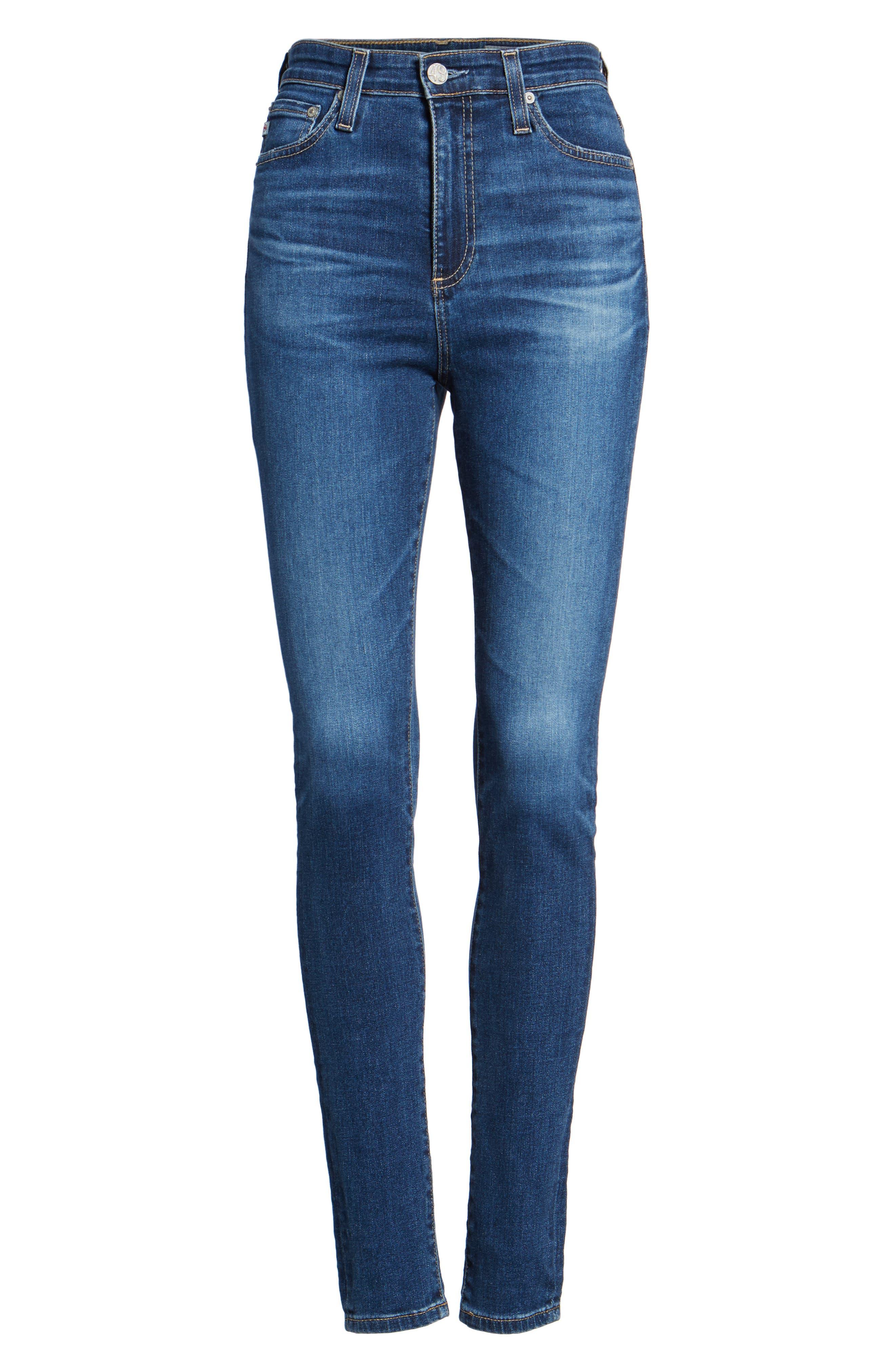 Mila High Waist Skinny Jeans,                             Alternate thumbnail 6, color,                             473