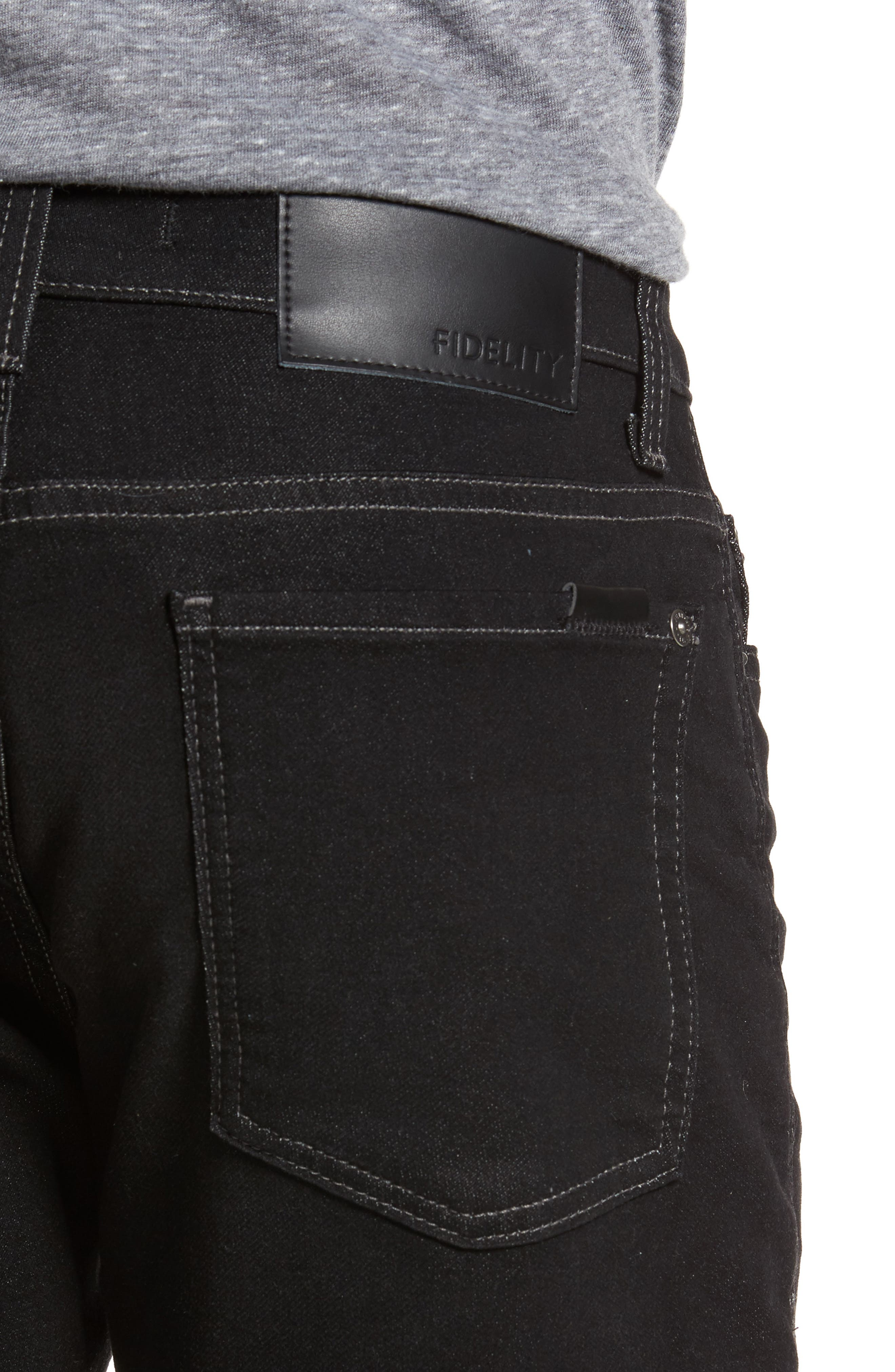 Torino Slim Fit Jeans,                             Alternate thumbnail 4, color,                             001