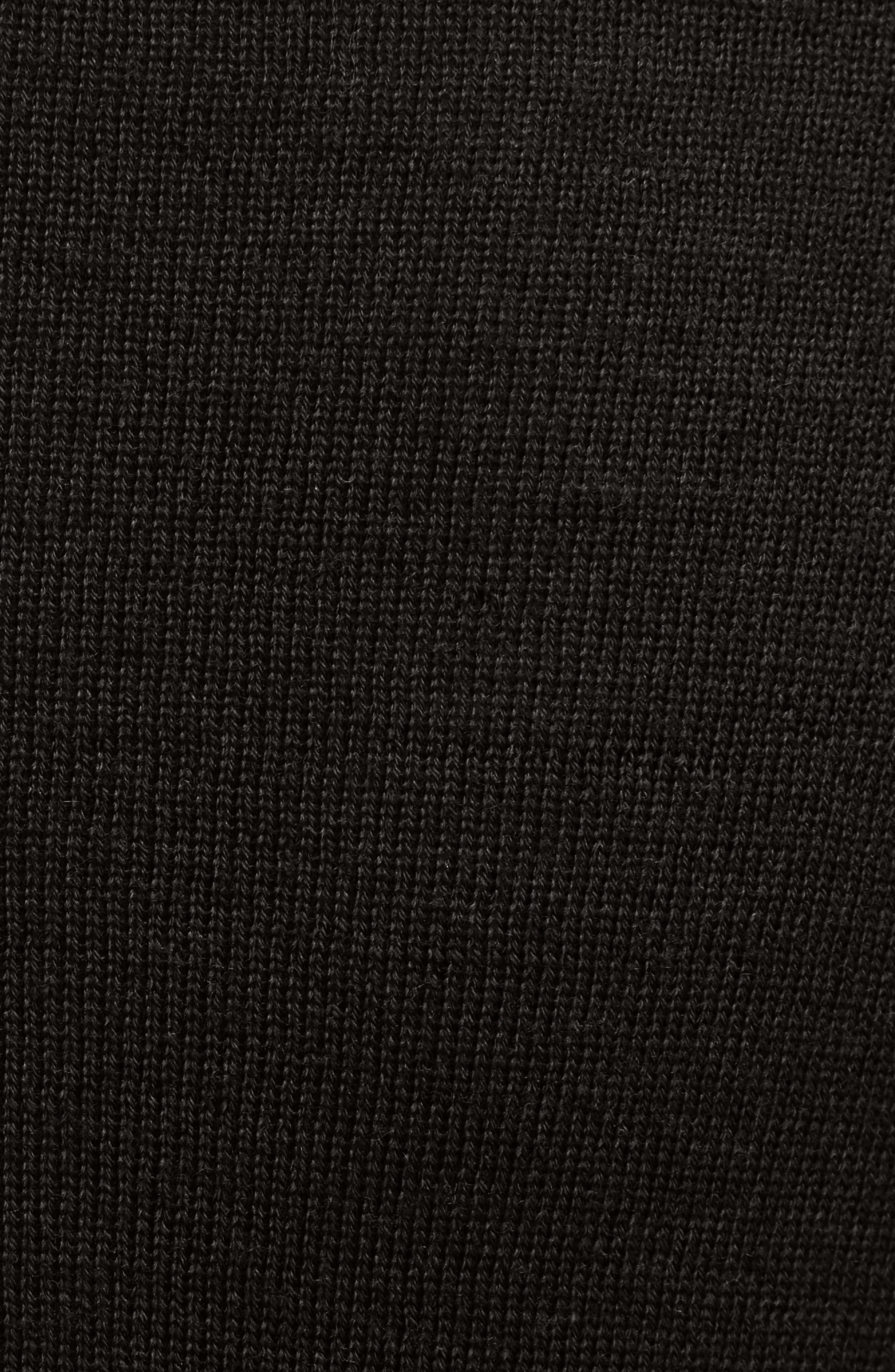 Drape Neck Wool Sweater,                             Alternate thumbnail 5, color,                             009