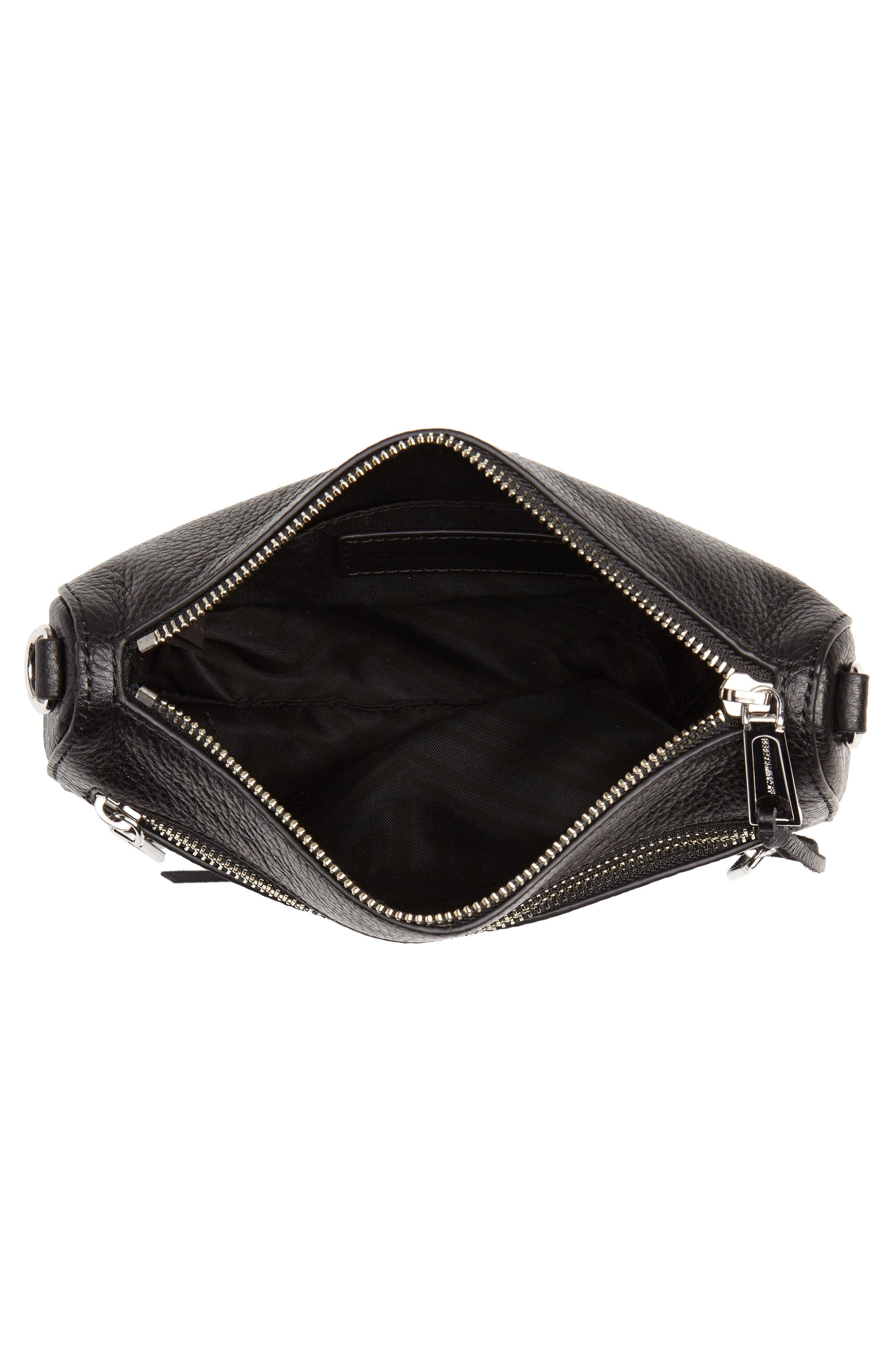 Mini 5 Leather Crossbody,                             Alternate thumbnail 4, color,                             001