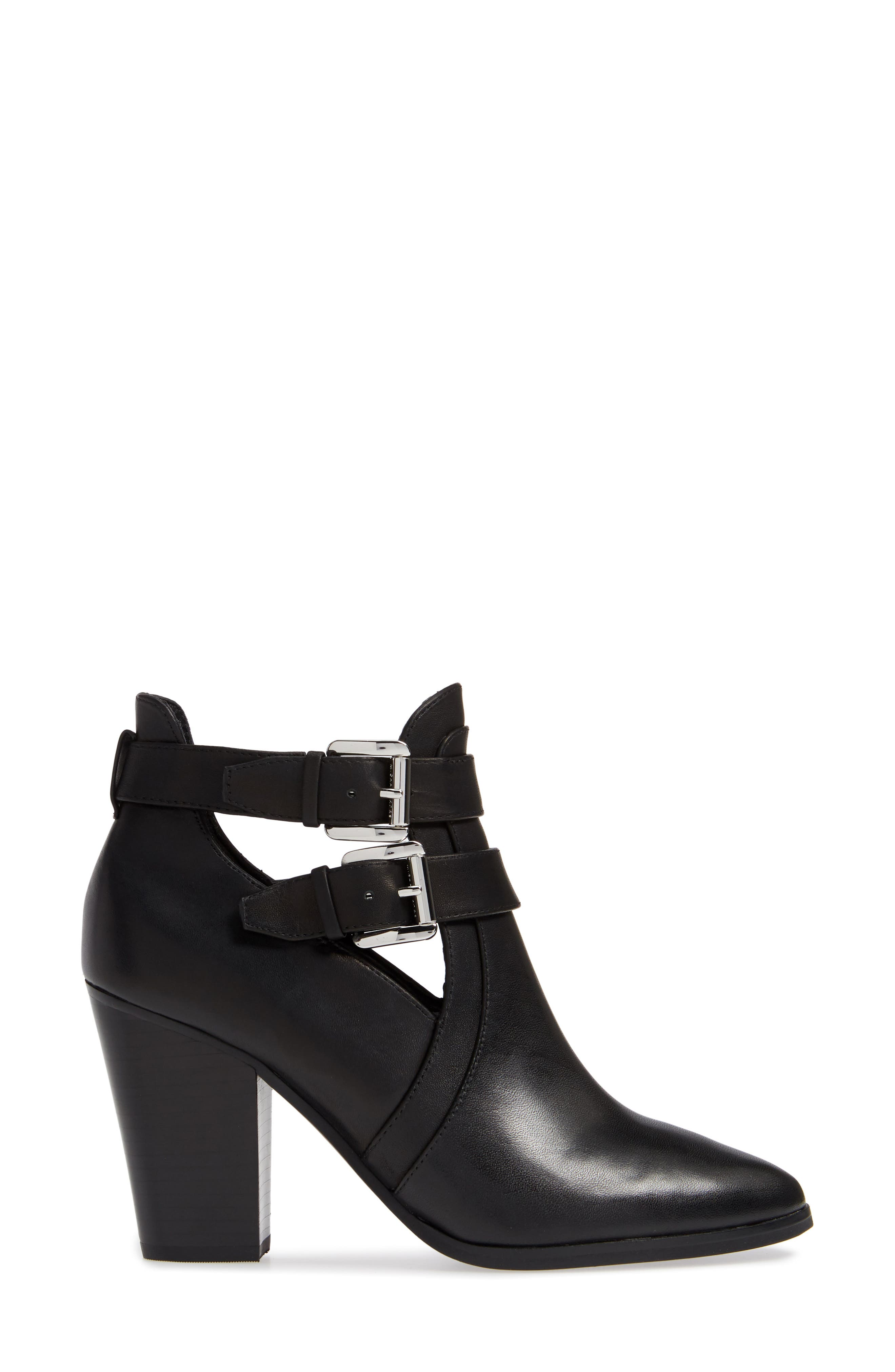 Walden Bootie,                             Alternate thumbnail 3, color,                             BLACK VACHETTA LEATHER