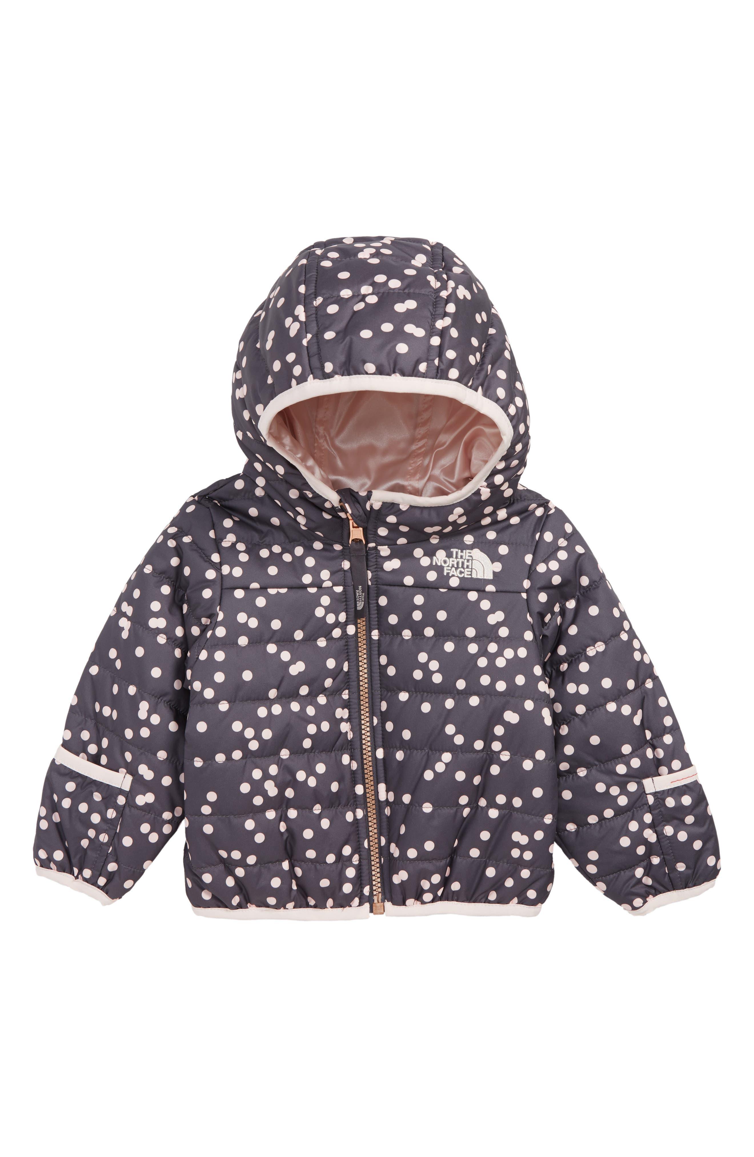 Perrito Reversible Water Repellent Jacket,                         Main,                         color, PERISCOPE GREY/ CONFETTI PRINT