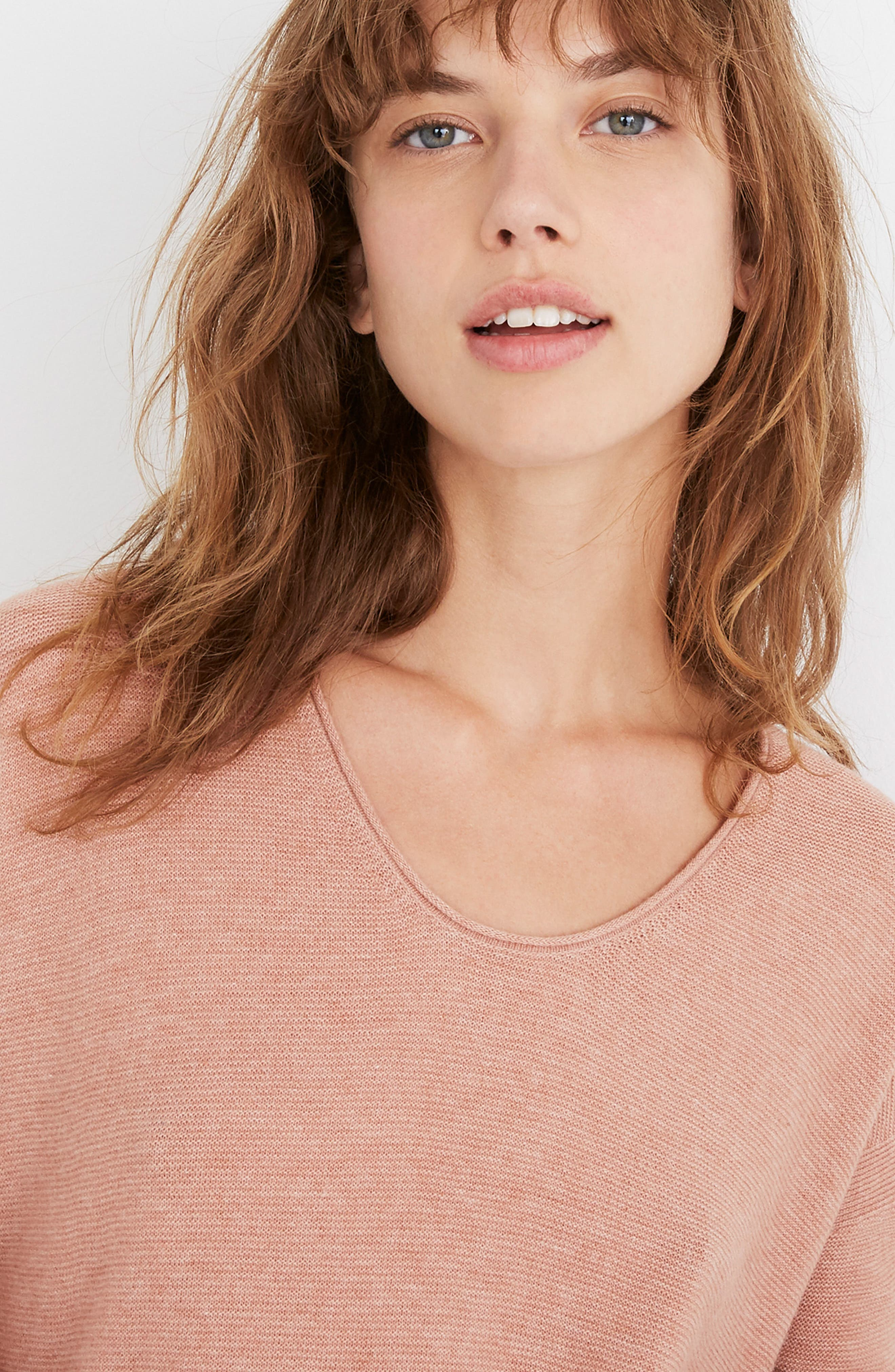 Kimball Sweater,                             Alternate thumbnail 6, color,                             HEATHER ROSE