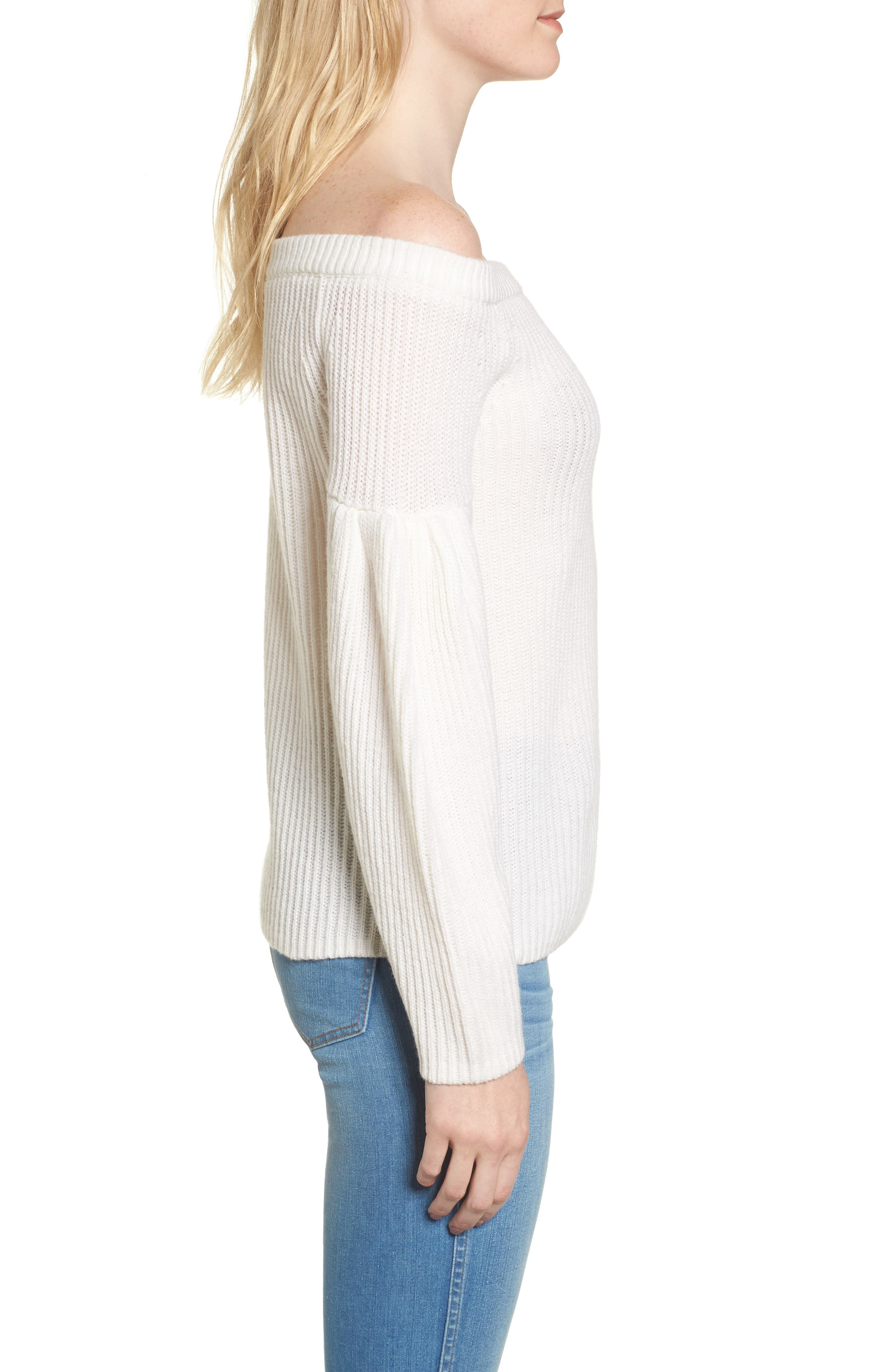 Lottie Off the Shoulder Sweater,                             Alternate thumbnail 6, color,