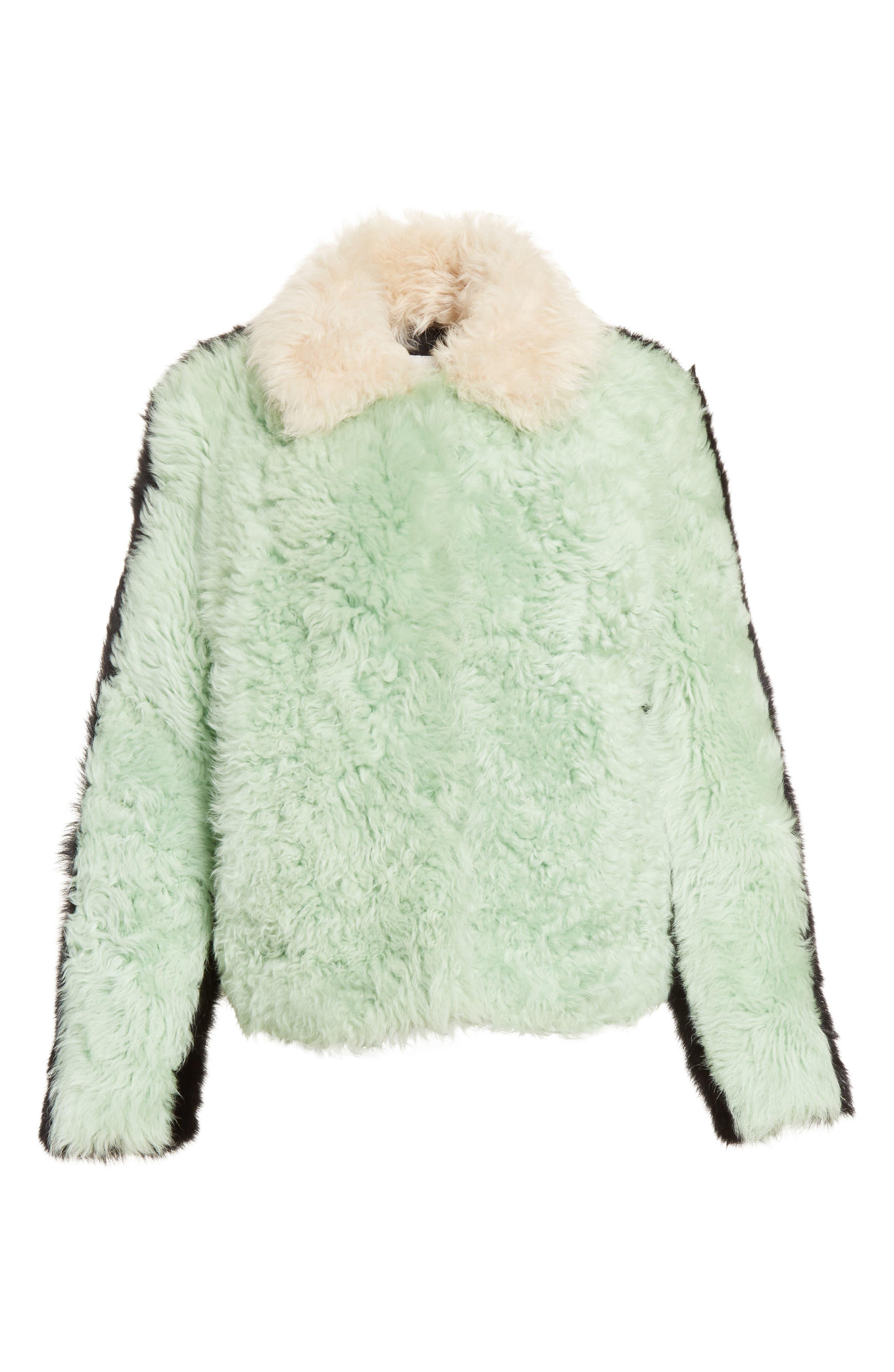 Cashew Genuine Shearling Coat,                             Alternate thumbnail 2, color,