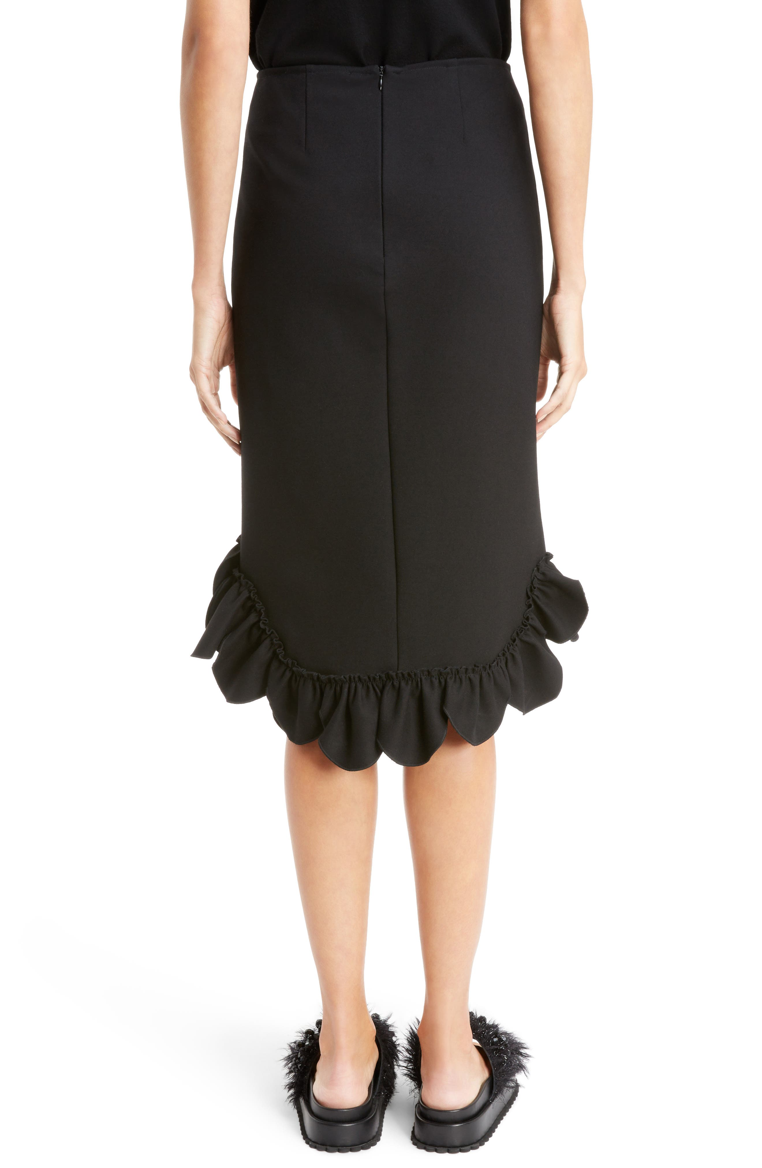 Asymmetrical Ruffle Skirt,                             Alternate thumbnail 2, color,                             001