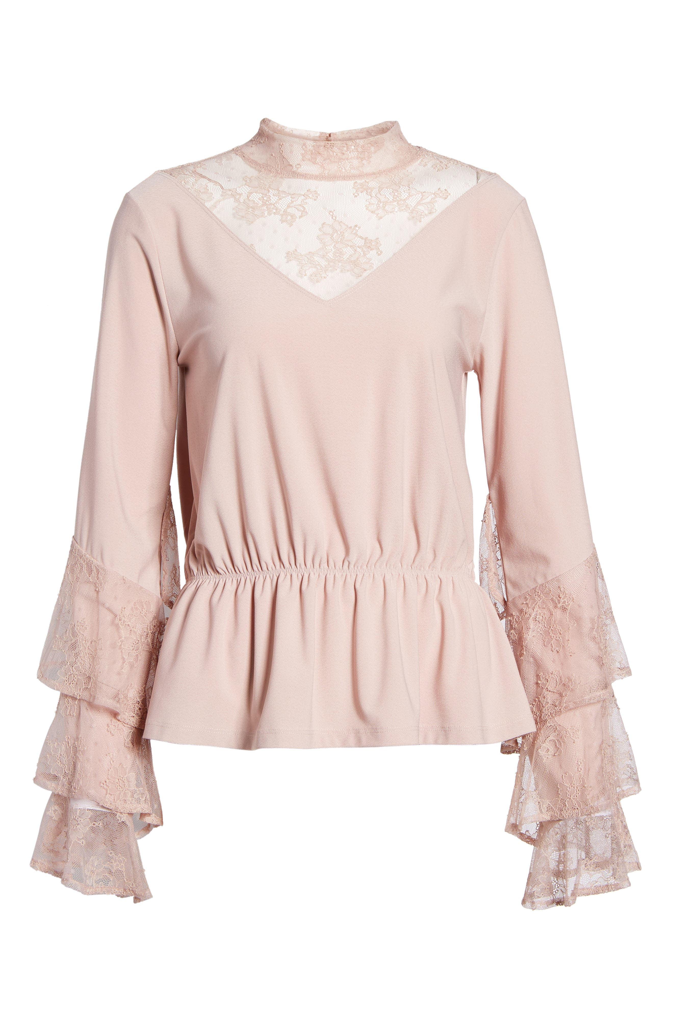 Spiral Lace Top,                             Alternate thumbnail 6, color,                             680