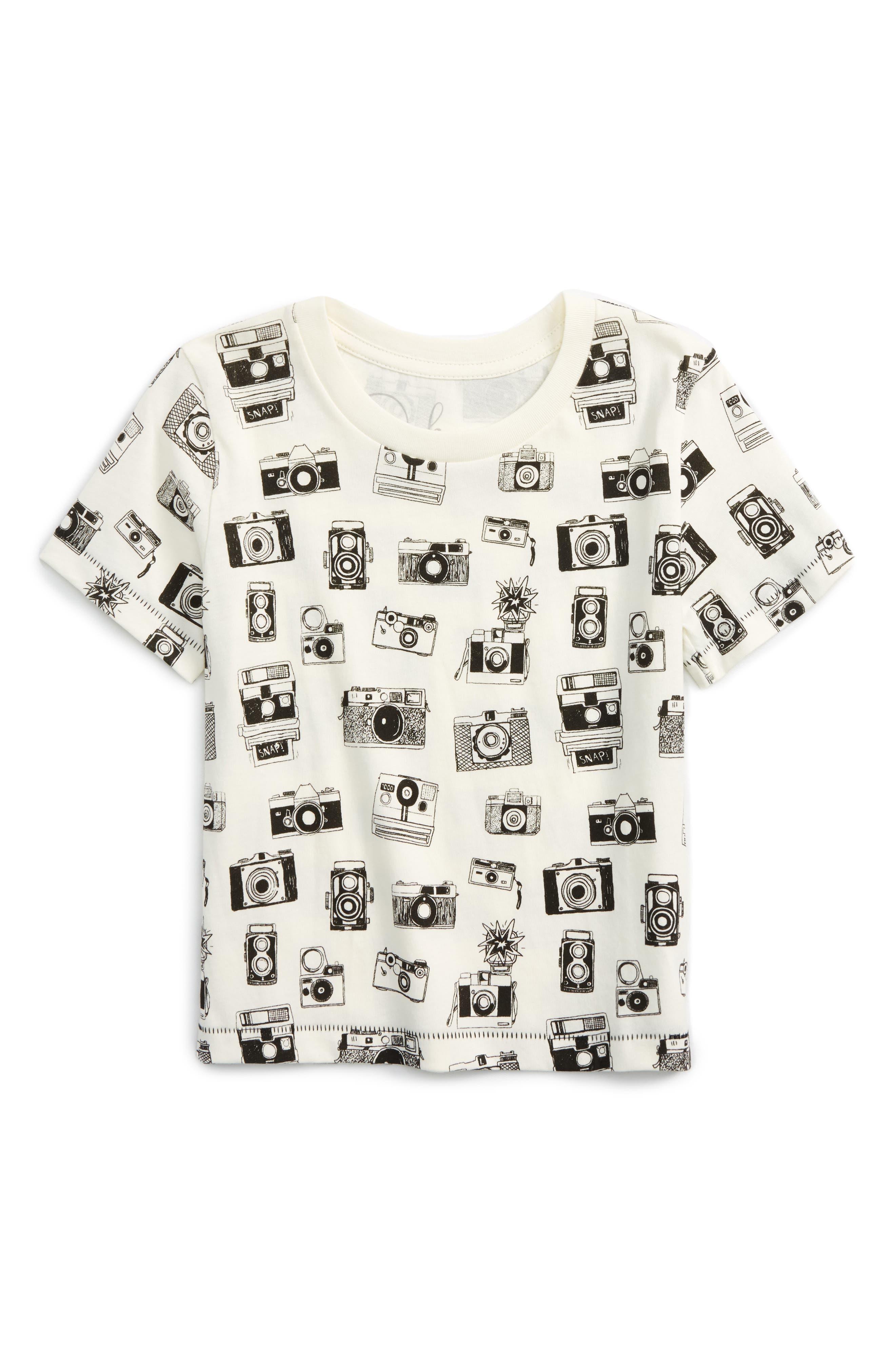 All Over Camera Graphic T-Shirt,                             Main thumbnail 1, color,                             100