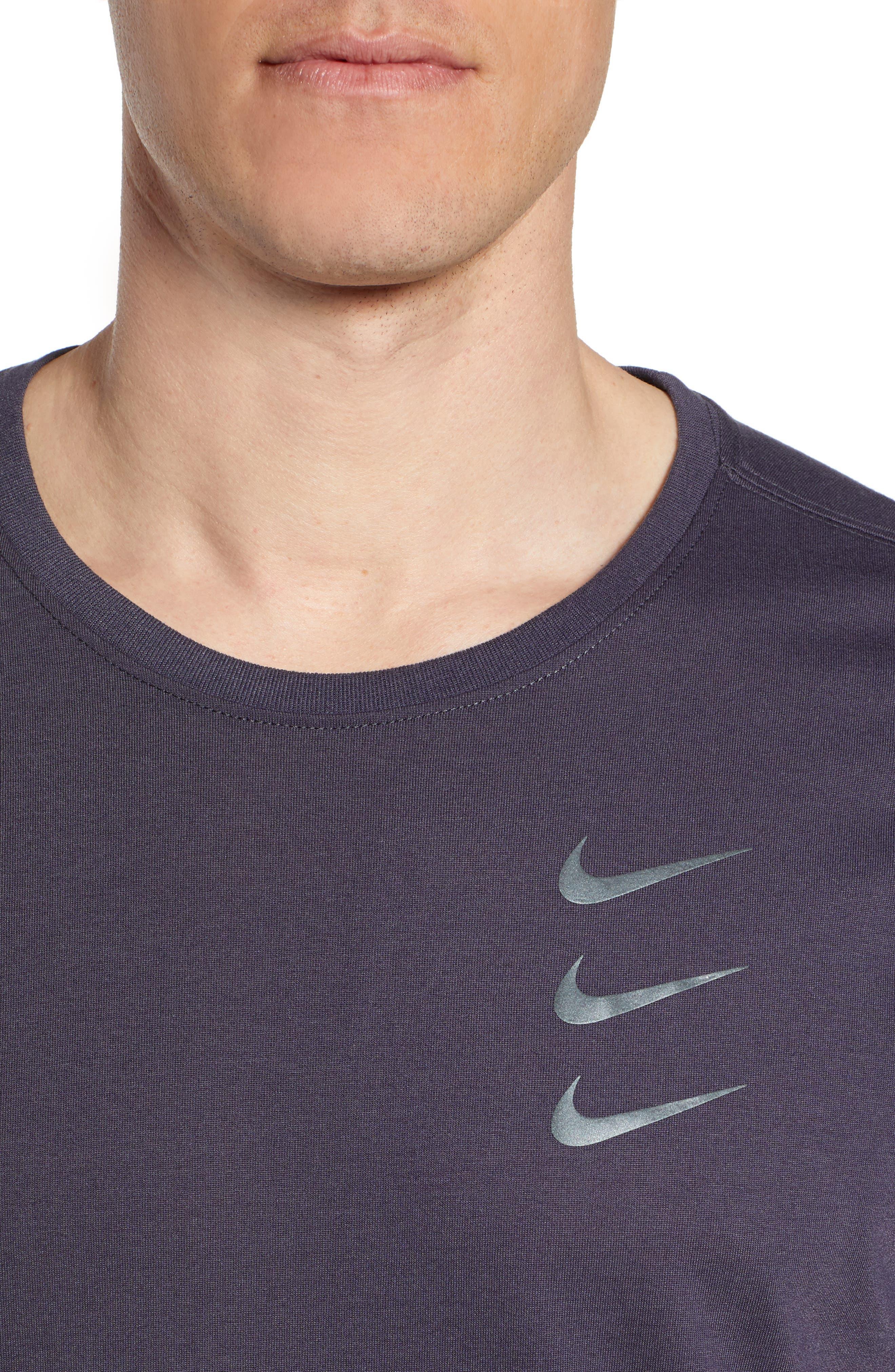 Dry Running Division T-Shirt,                             Alternate thumbnail 4, color,                             GRIDIRON/ GUNSMOKE
