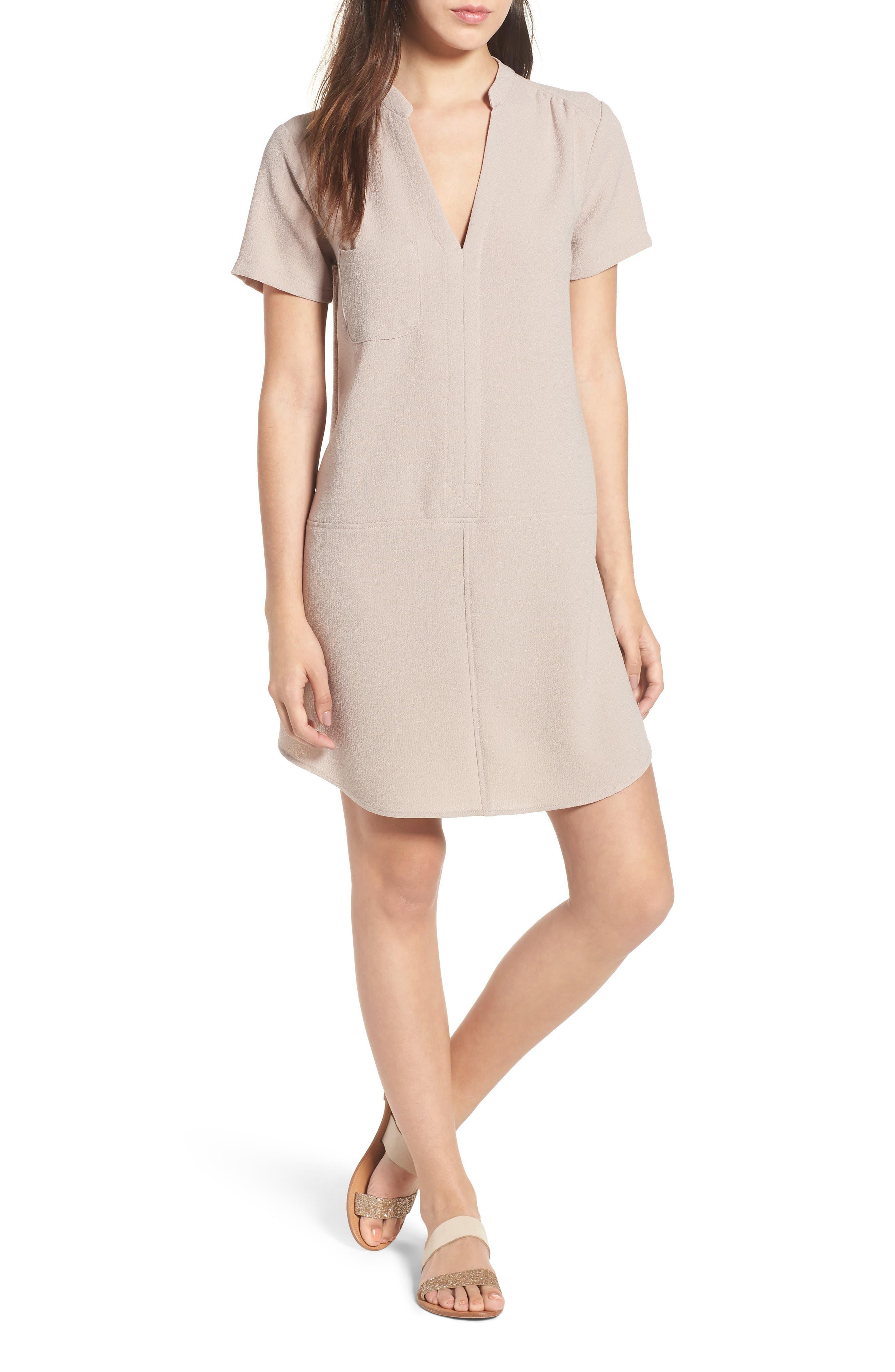 Hailey Crepe Dress,                             Main thumbnail 3, color,