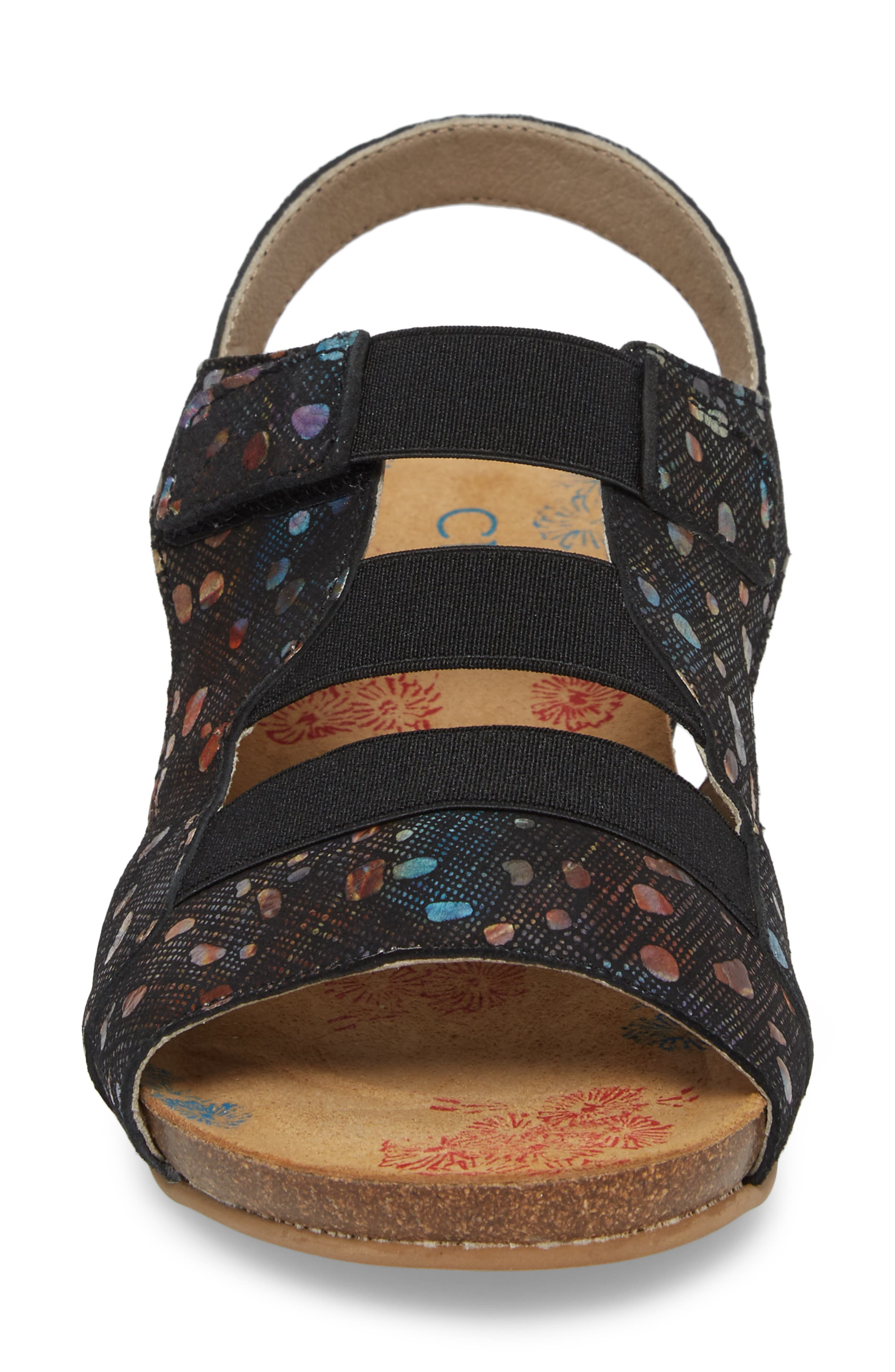 Duffy Wedge Sandal,                             Alternate thumbnail 4, color,                             BUBBLE LEATHER