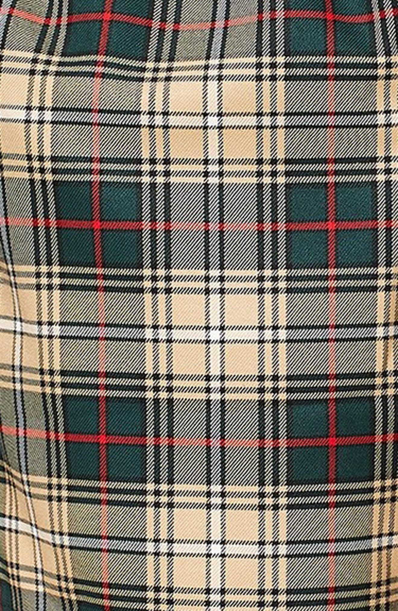 Check Shorts,                             Alternate thumbnail 3, color,                             BEIGE MULTI