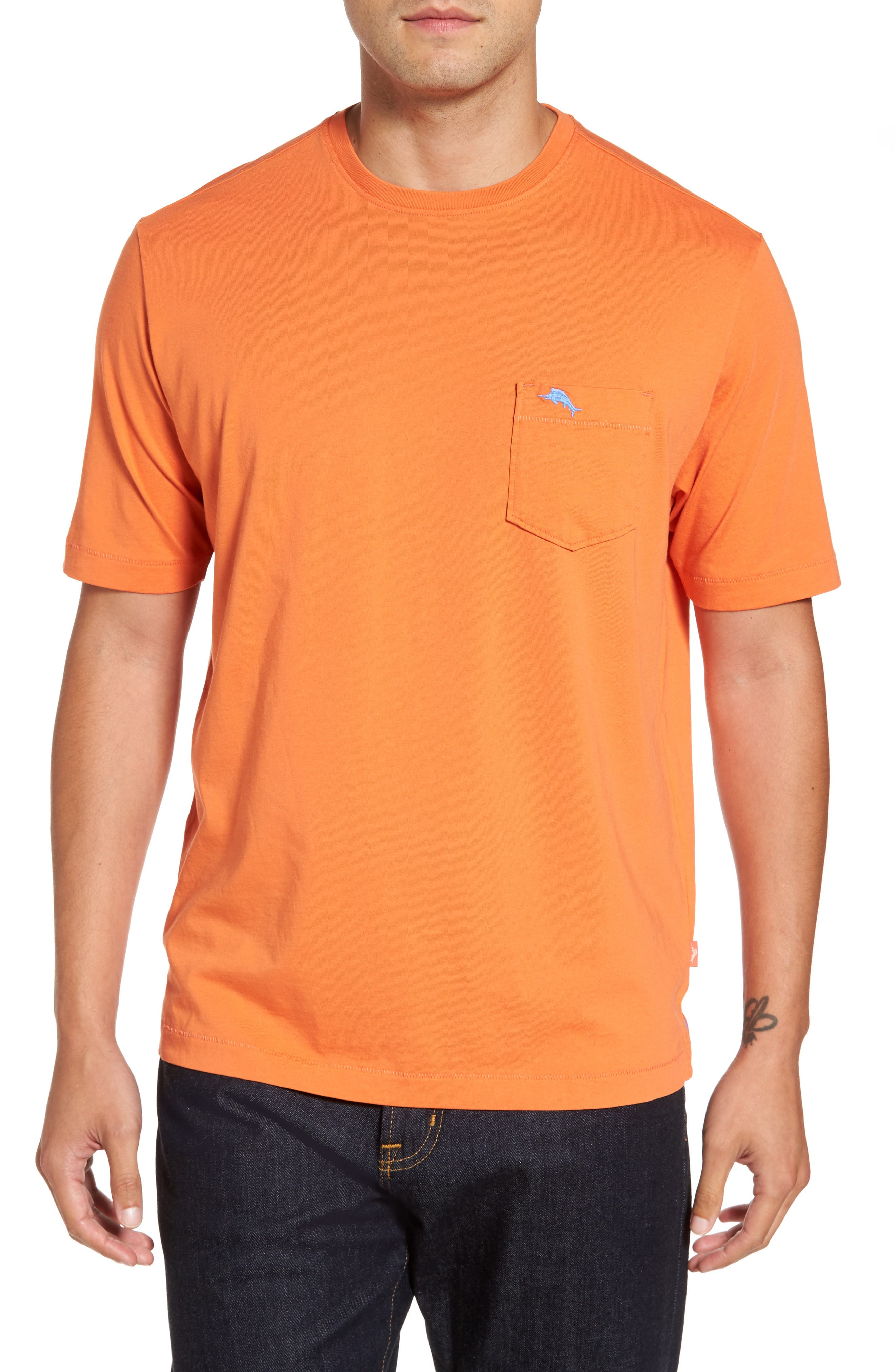 New Bali Sky Pima Cotton Pocket T-Shirt,                             Main thumbnail 5, color,