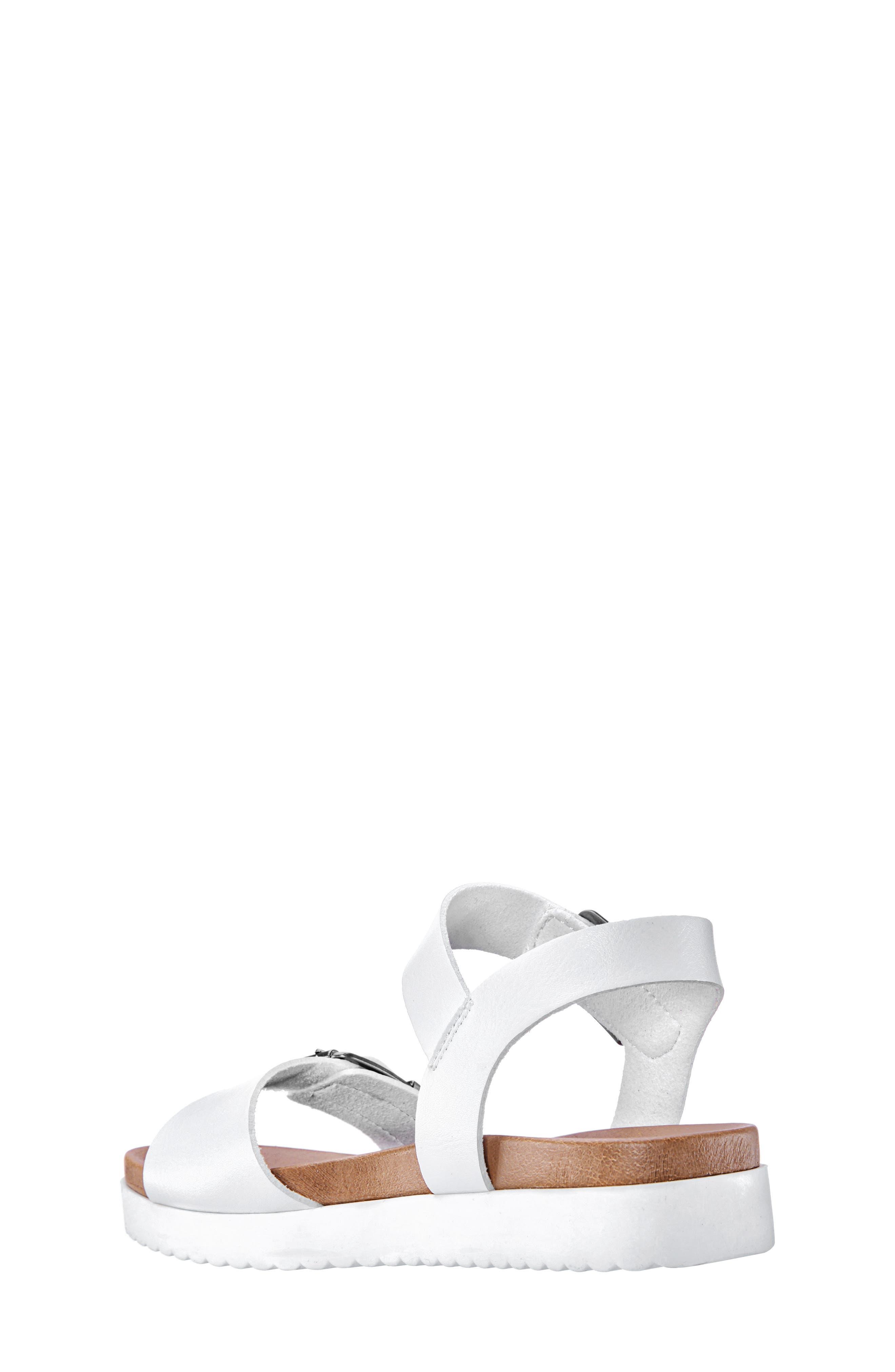 NINA,                             Jacklin3 Quarter Strap Sandal,                             Alternate thumbnail 2, color,                             WHITE TUMBLE