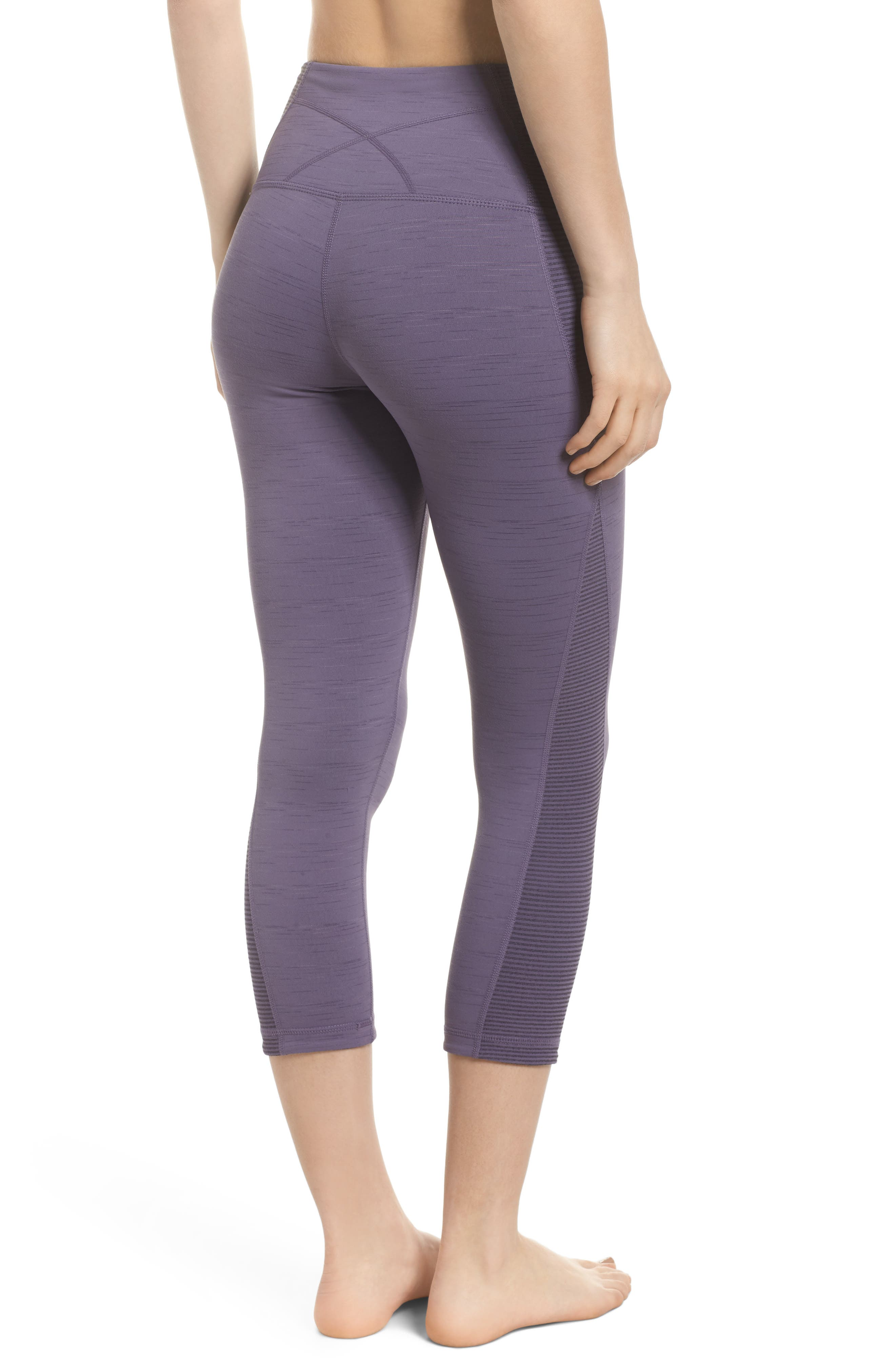 Sporty Splice High Waist Crop Leggings,                             Alternate thumbnail 10, color,