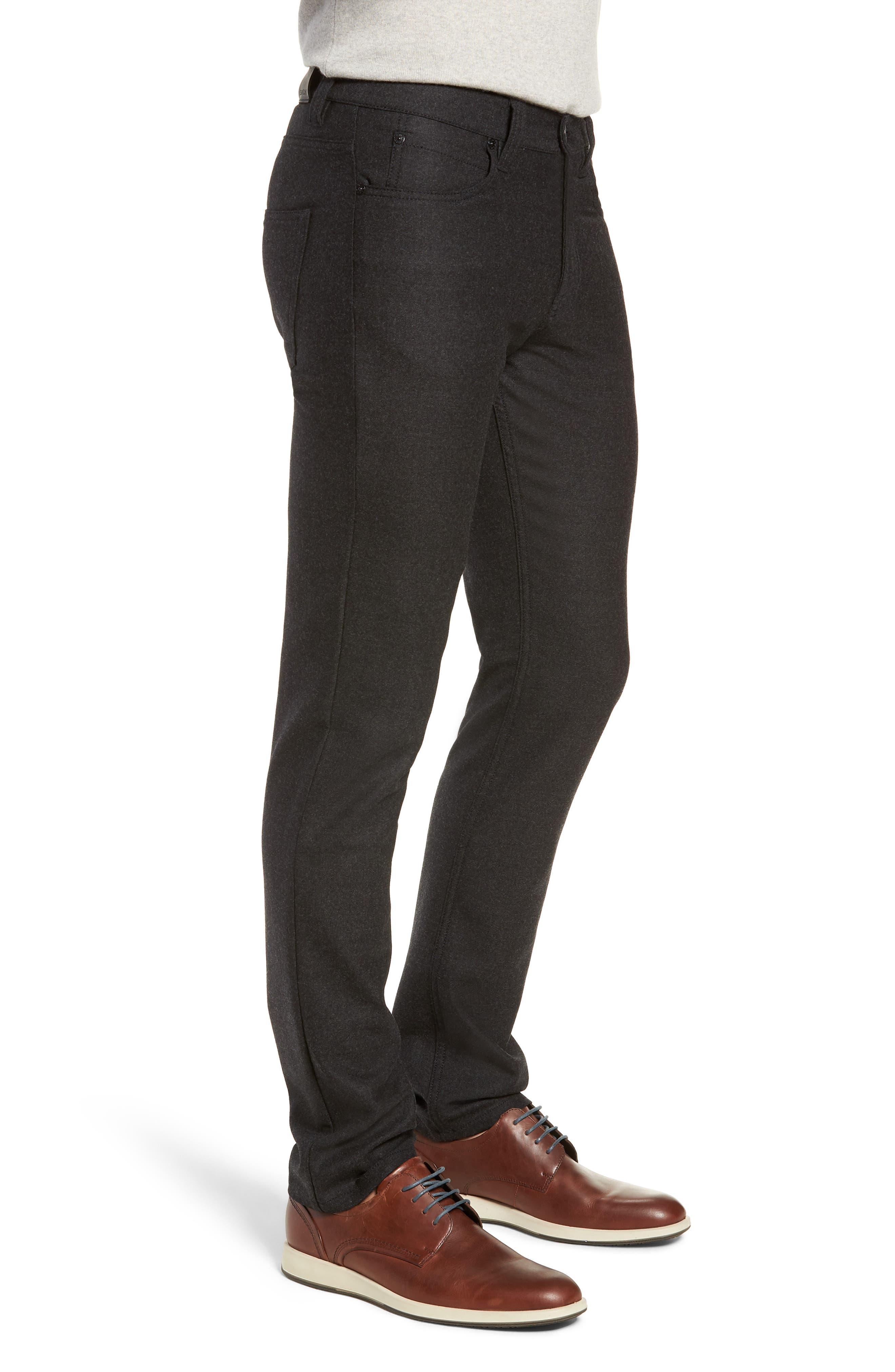 Slim Fit Wool Blend Pants,                             Alternate thumbnail 3, color,                             CHARCOAL