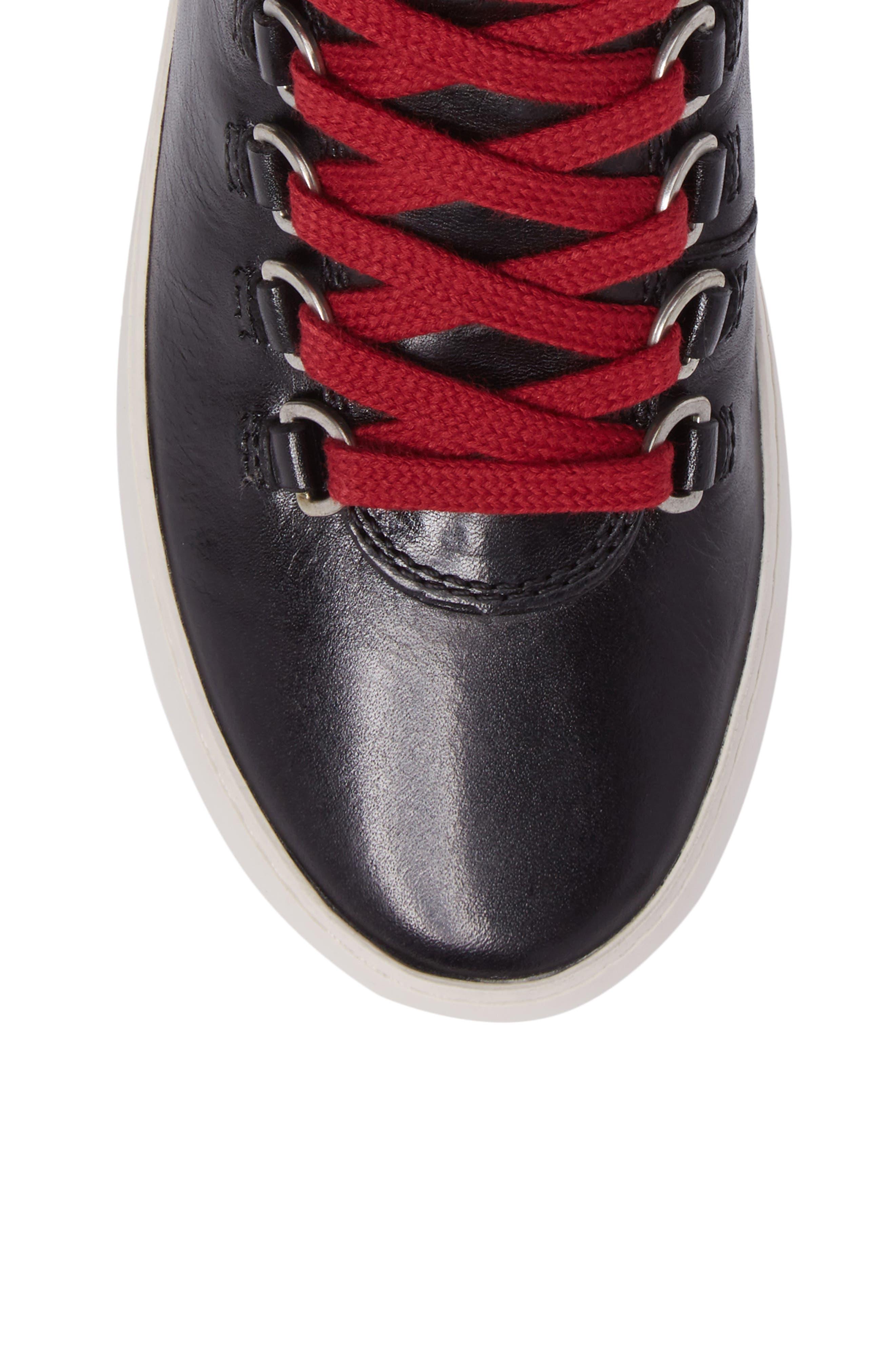 Lena Hiker High Top Sneaker,                             Alternate thumbnail 5, color,                             001