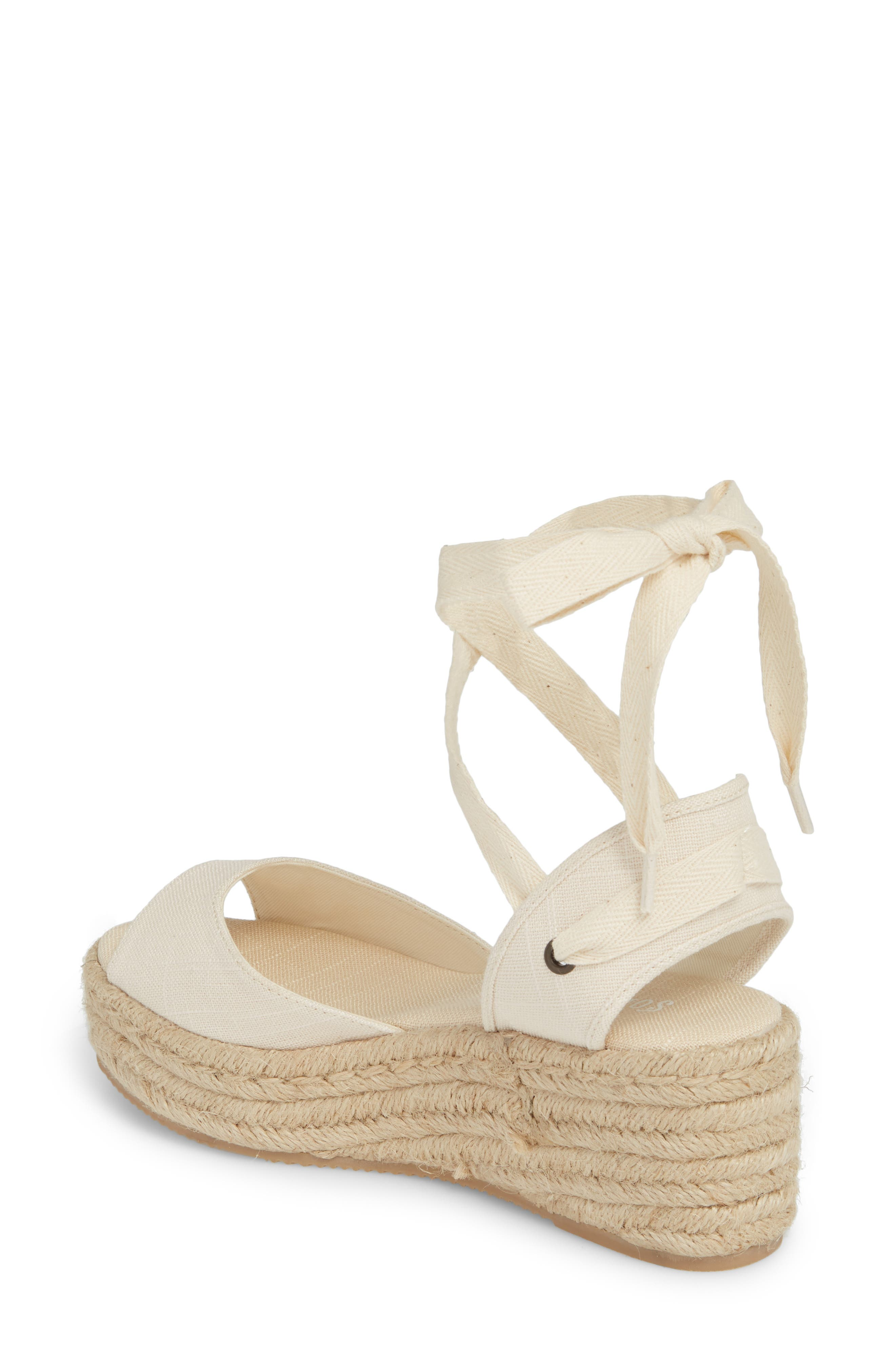 Espadrille Platform Sandal,                             Alternate thumbnail 2, color,                             BLUSH FABRIC