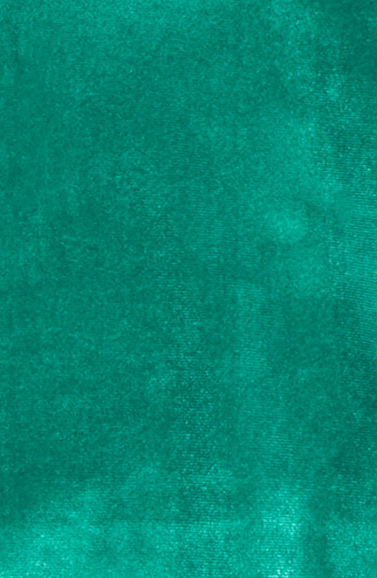 Bubble Sleeve Velour Top,                             Alternate thumbnail 2, color,                             GREEN GOLF