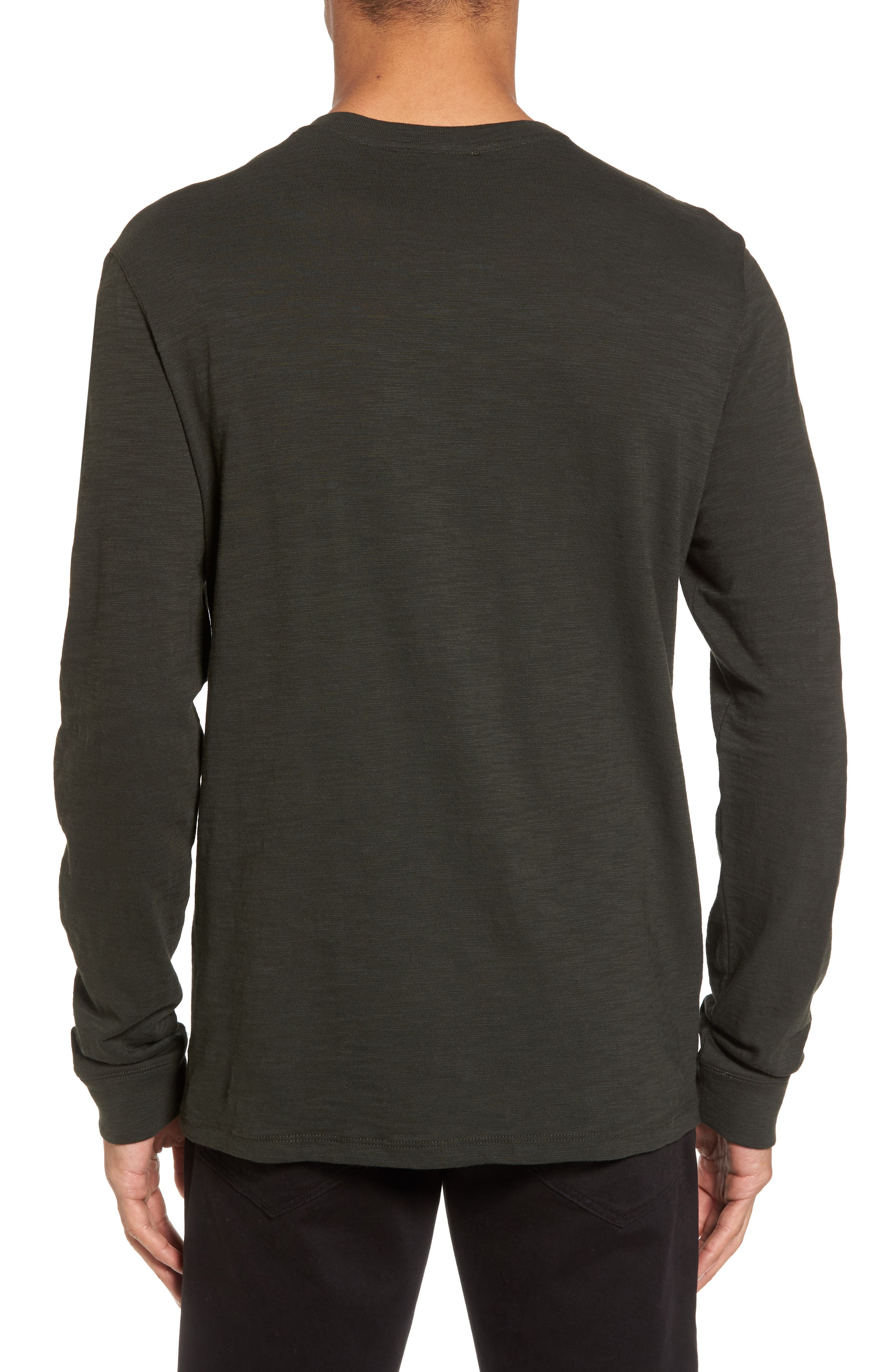 Long Sleeve Slub Henley,                             Alternate thumbnail 2, color,                             CACTUS