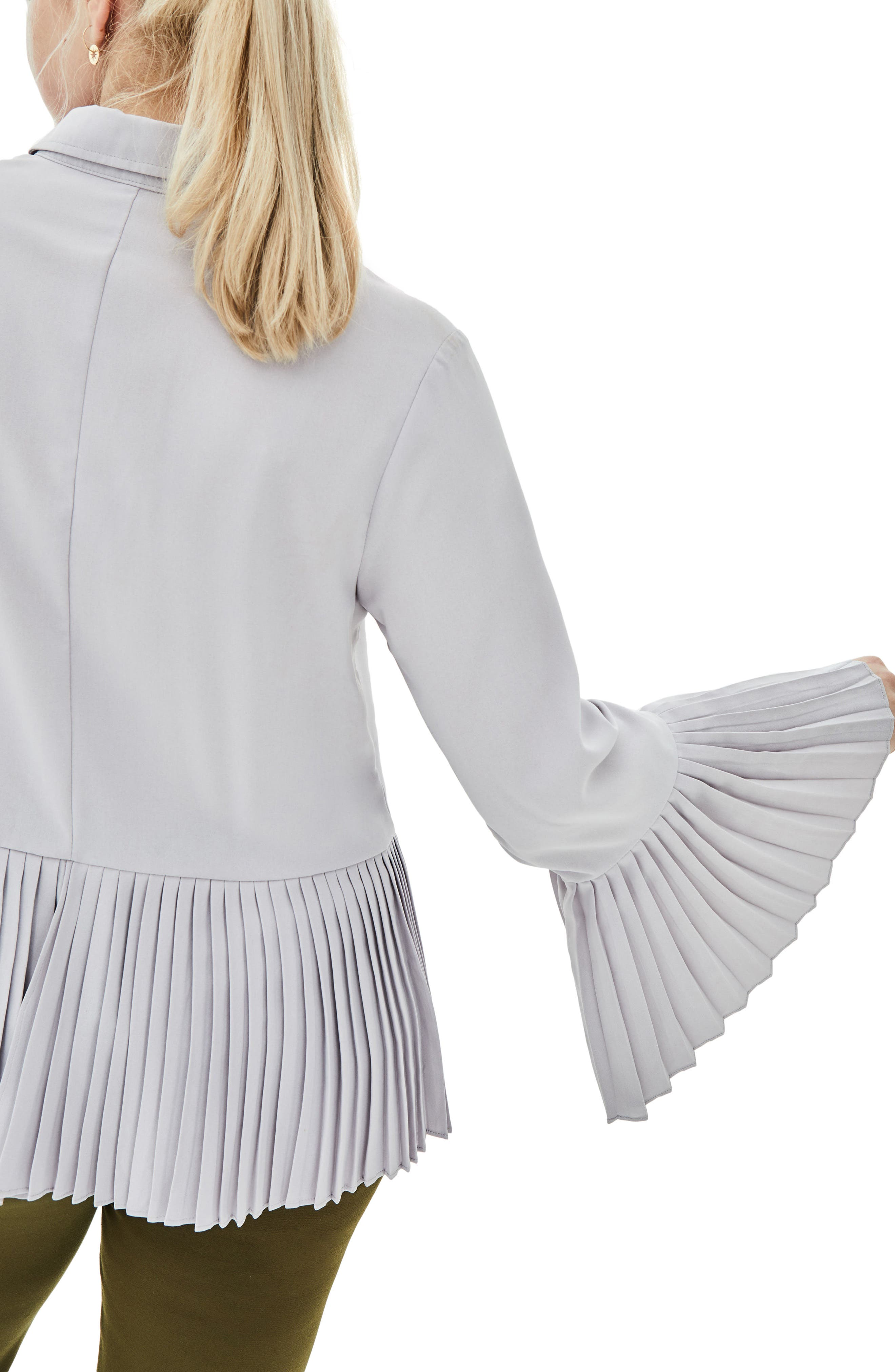 the Luli Pleated Bell Sleeve Shirt,                             Alternate thumbnail 2, color,                             500