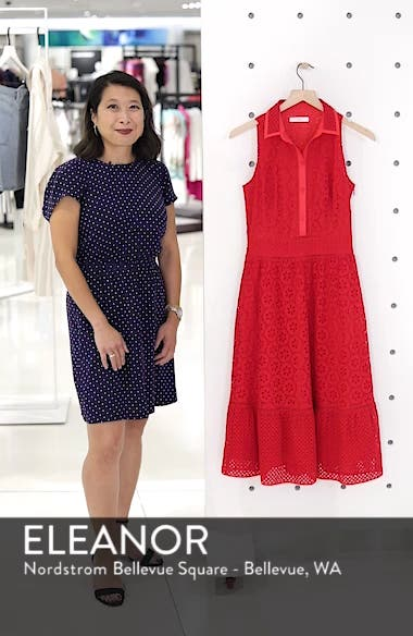 Cotton Eyelet Sleeveless Shirtdress, sales video thumbnail