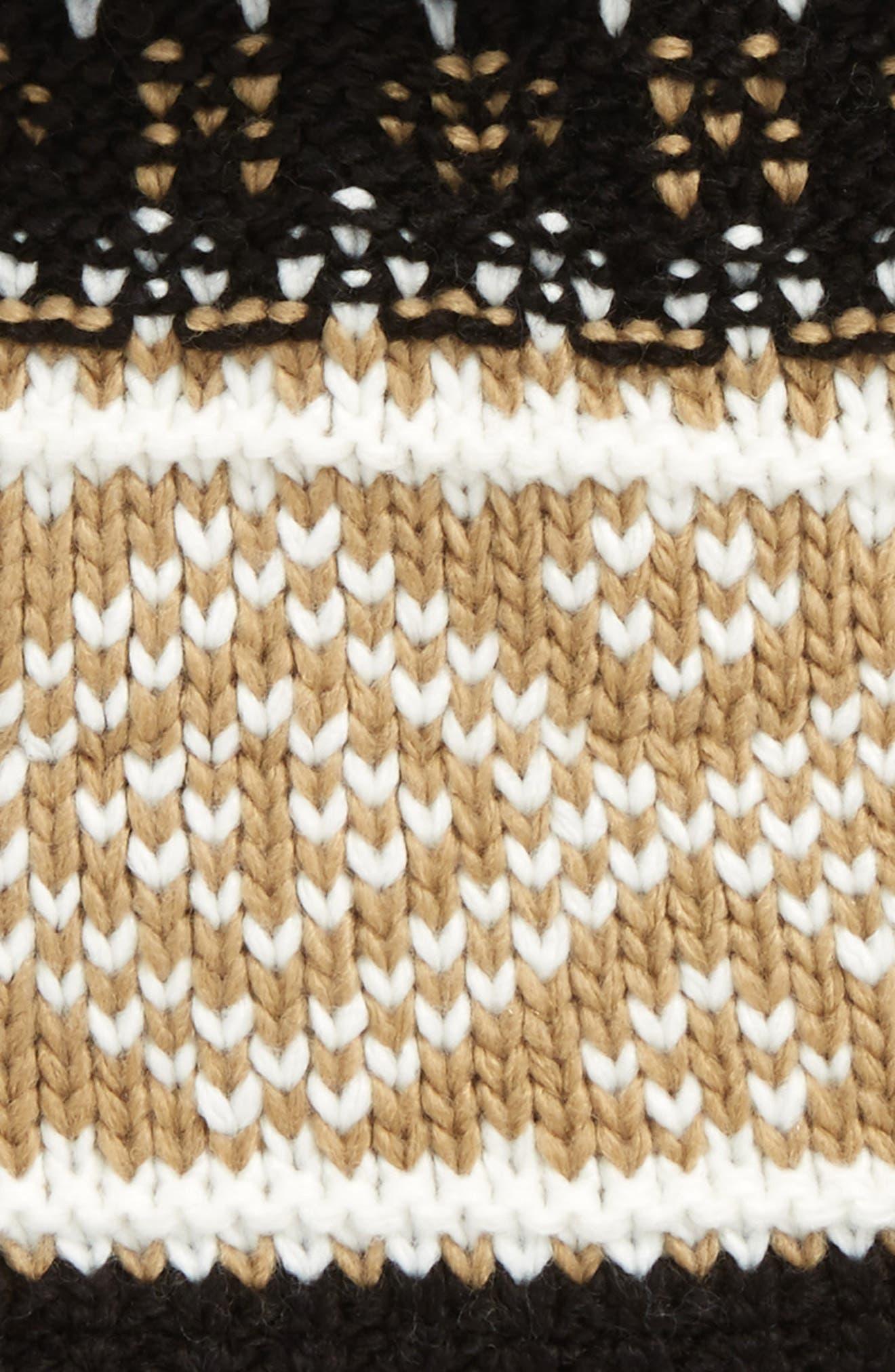 Fireside Pom Knit Beanie,                             Alternate thumbnail 2, color,                             001