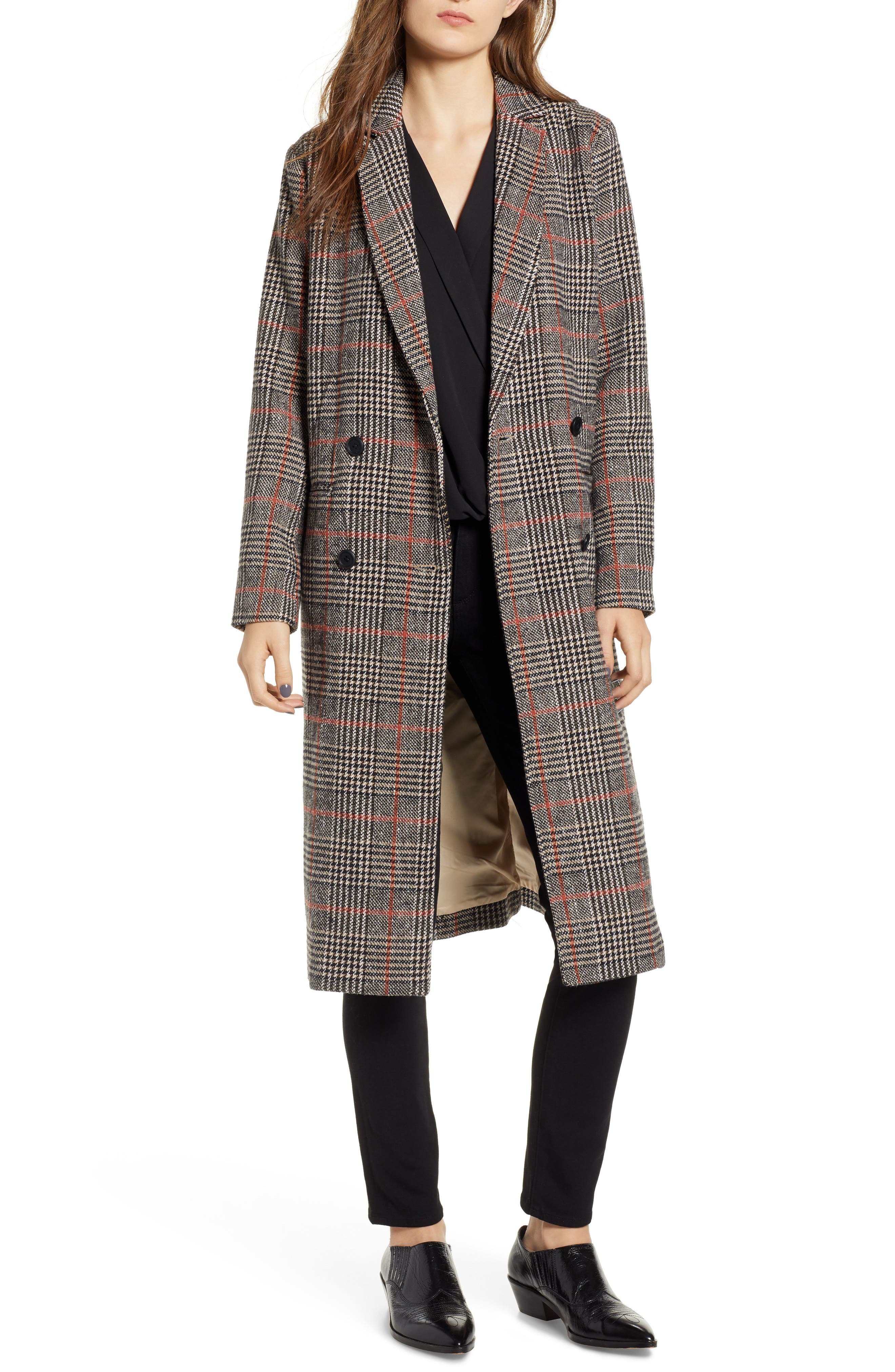 CUPCAKES AND CASHMERE Plaid Duster Jacket, Main, color, 020