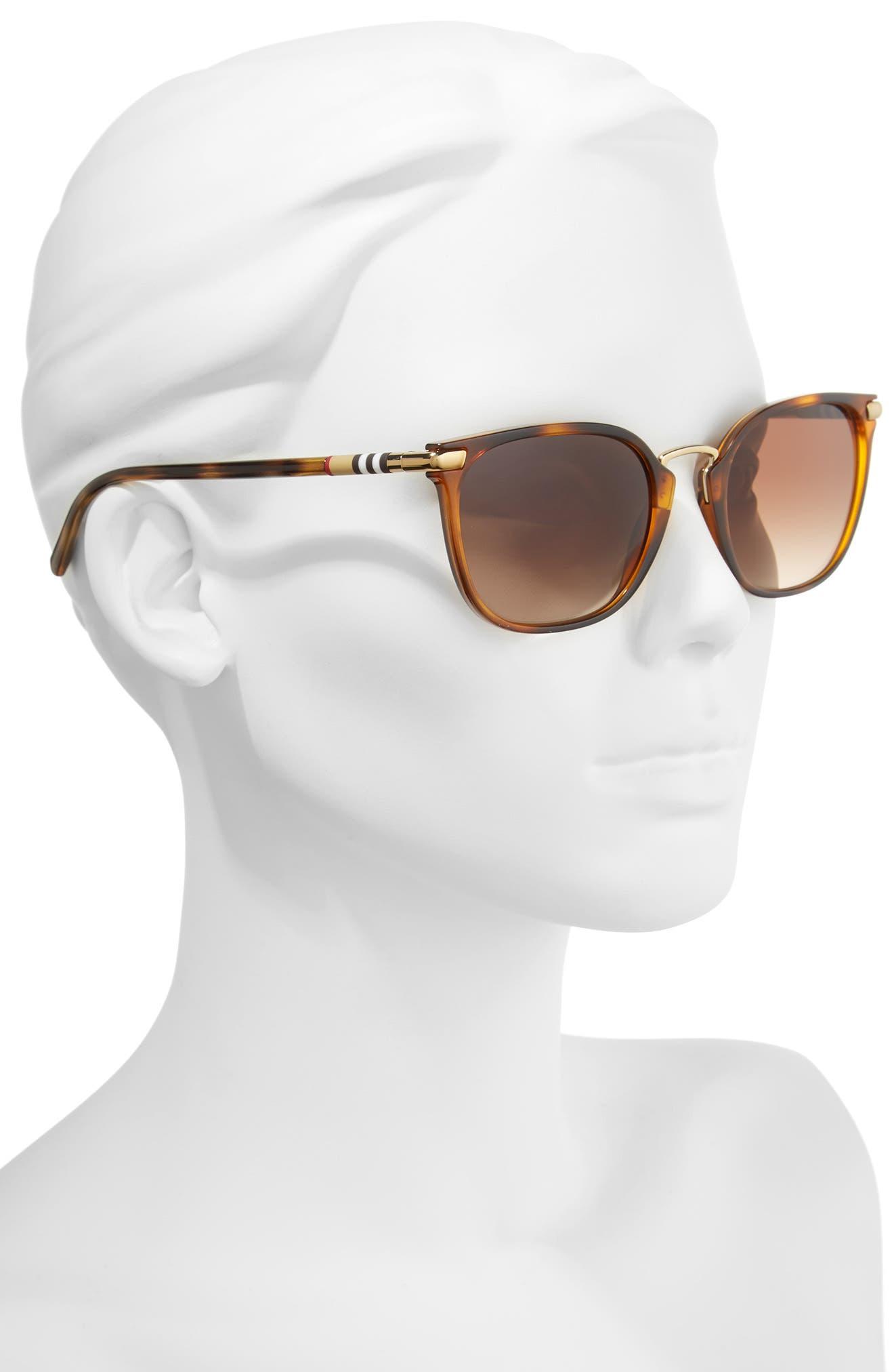 53mm Gradient Square Sunglasses,                             Alternate thumbnail 8, color,