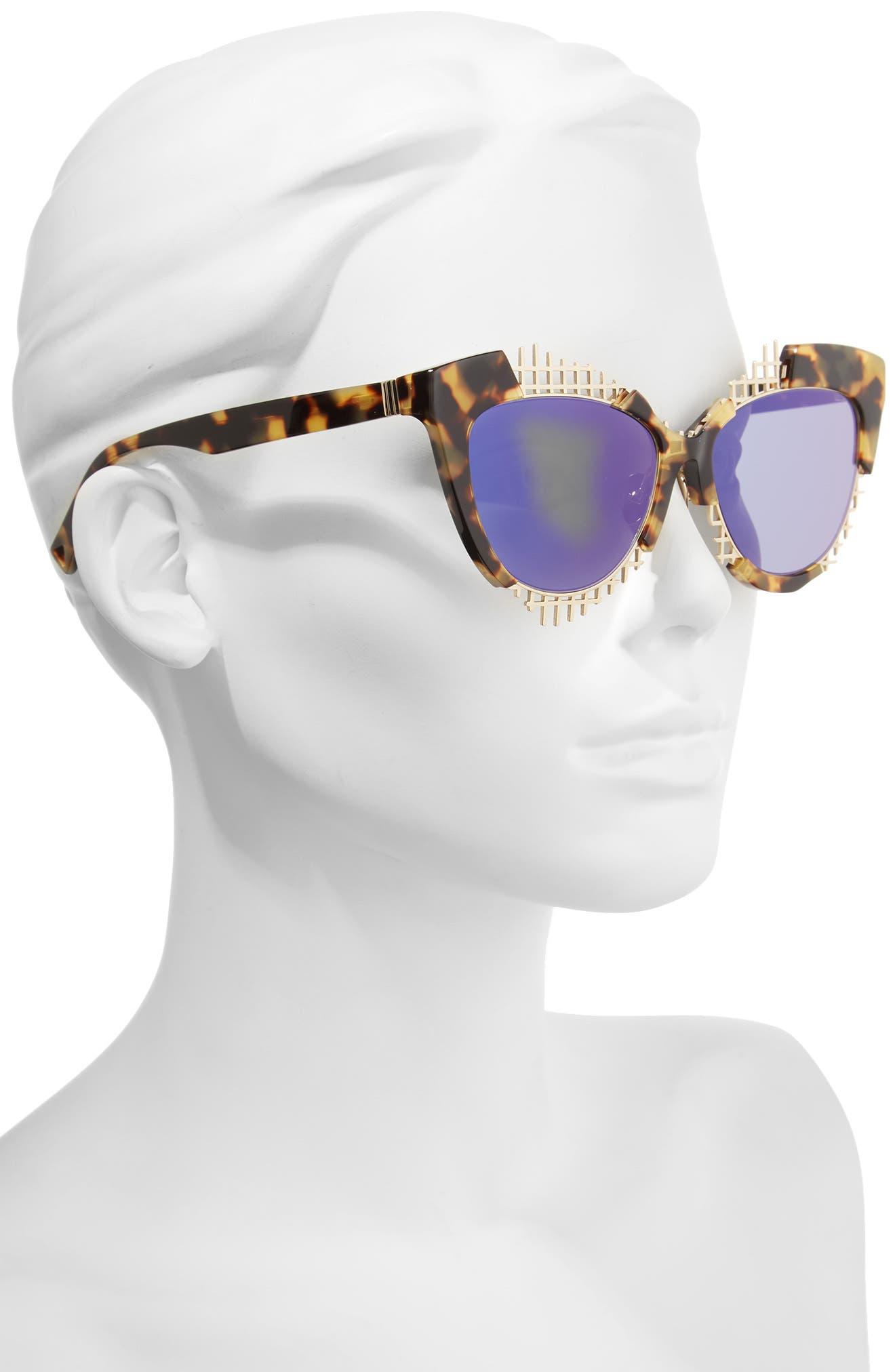 Voz 55mm Cat Eye Sunglasses,                             Alternate thumbnail 5, color,