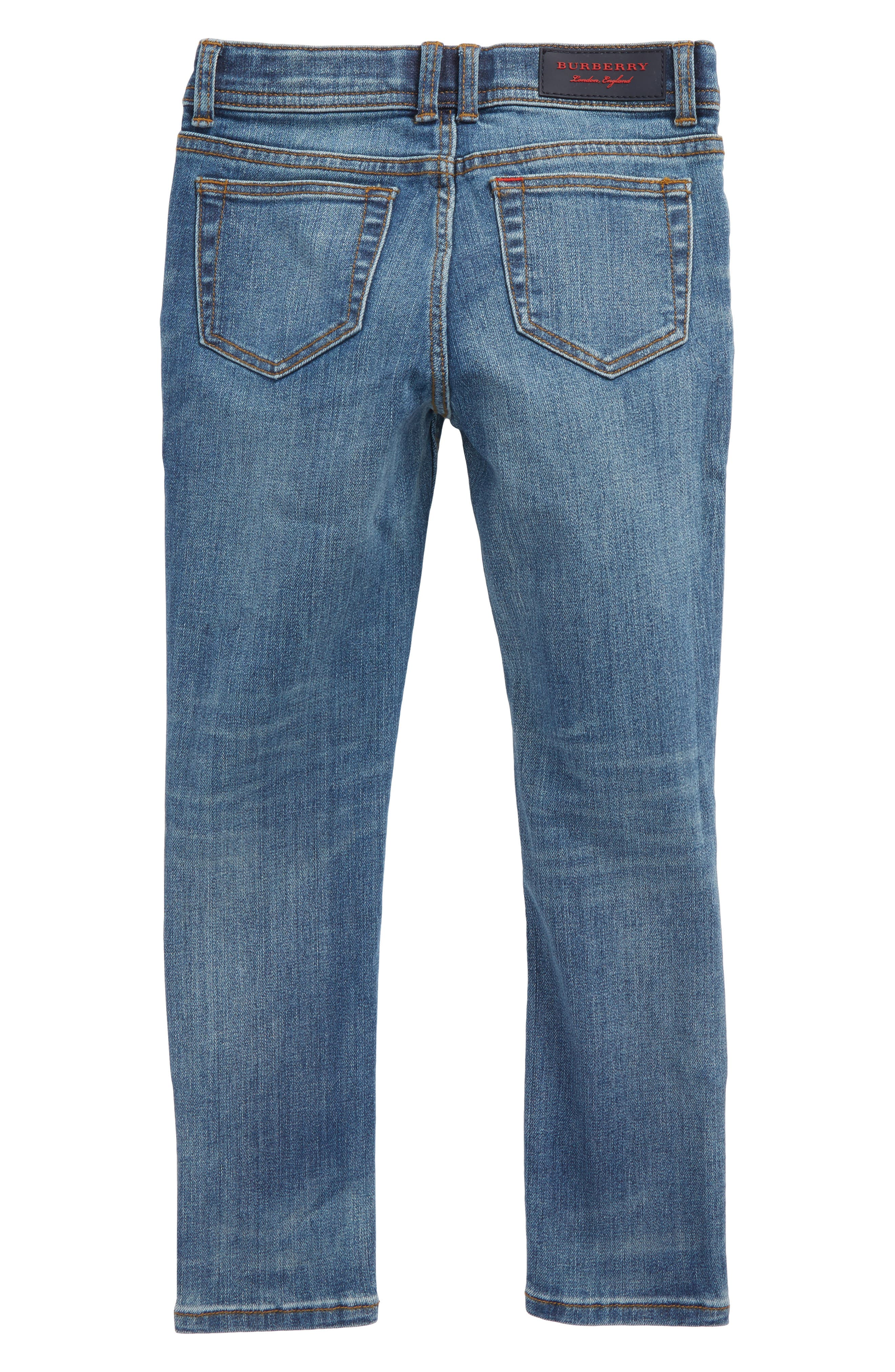 Skinny Jeans,                             Alternate thumbnail 2, color,                             MID INDIGO