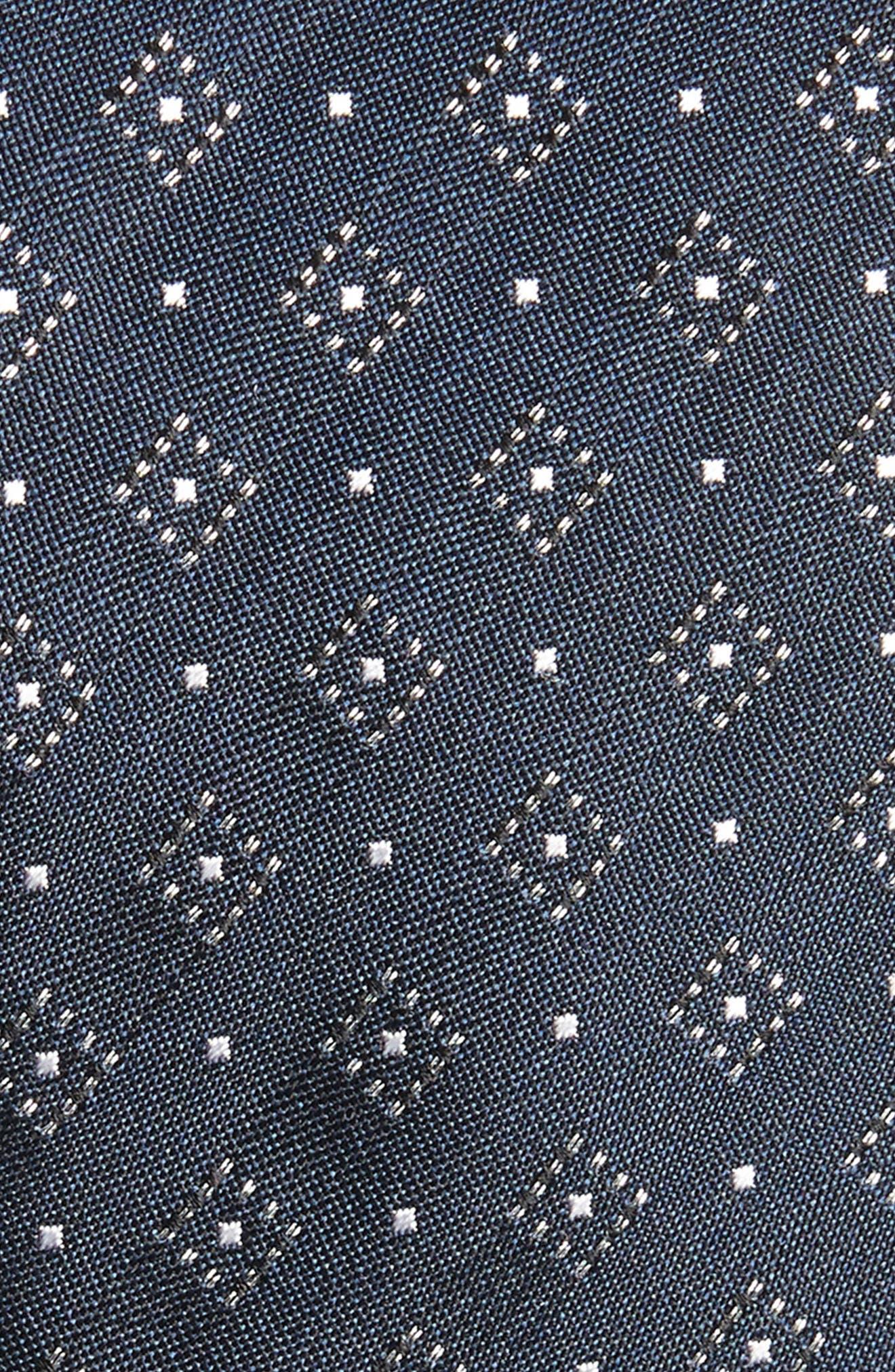 Gemstone Gala Silk Skinny Tie,                             Alternate thumbnail 2, color,                             NAVY