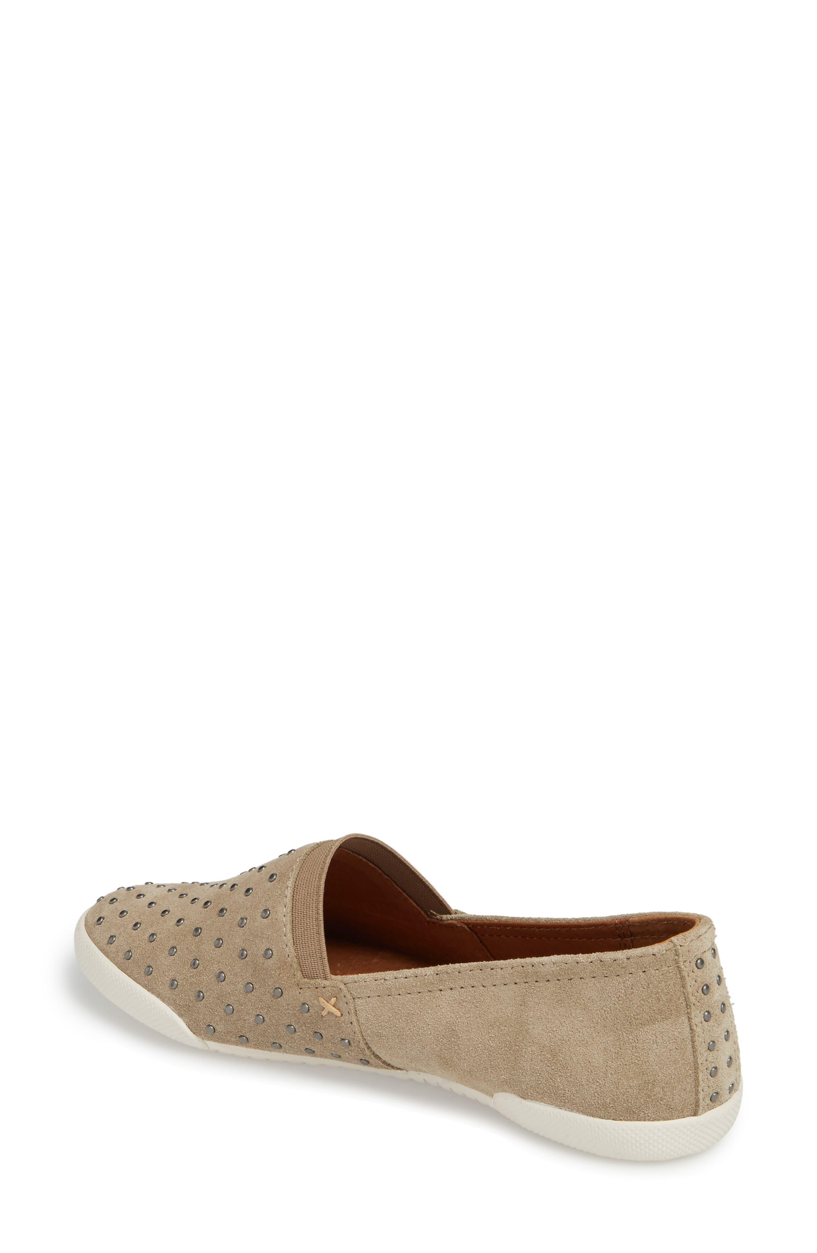 Melanie Stud Slip-On Sneaker,                             Alternate thumbnail 2, color,                             ASH