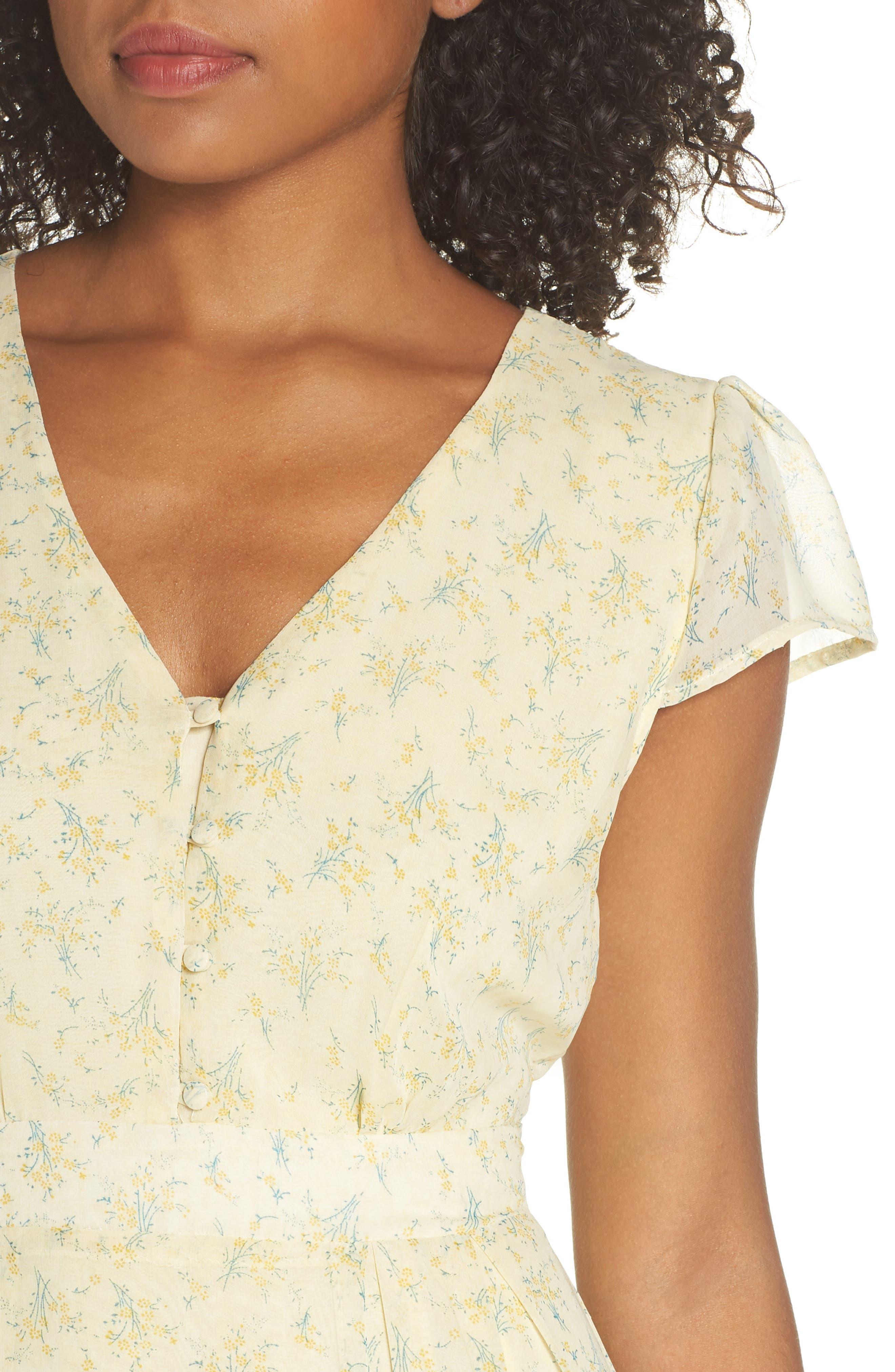 Floral Maxi Dress,                             Alternate thumbnail 4, color,                             700