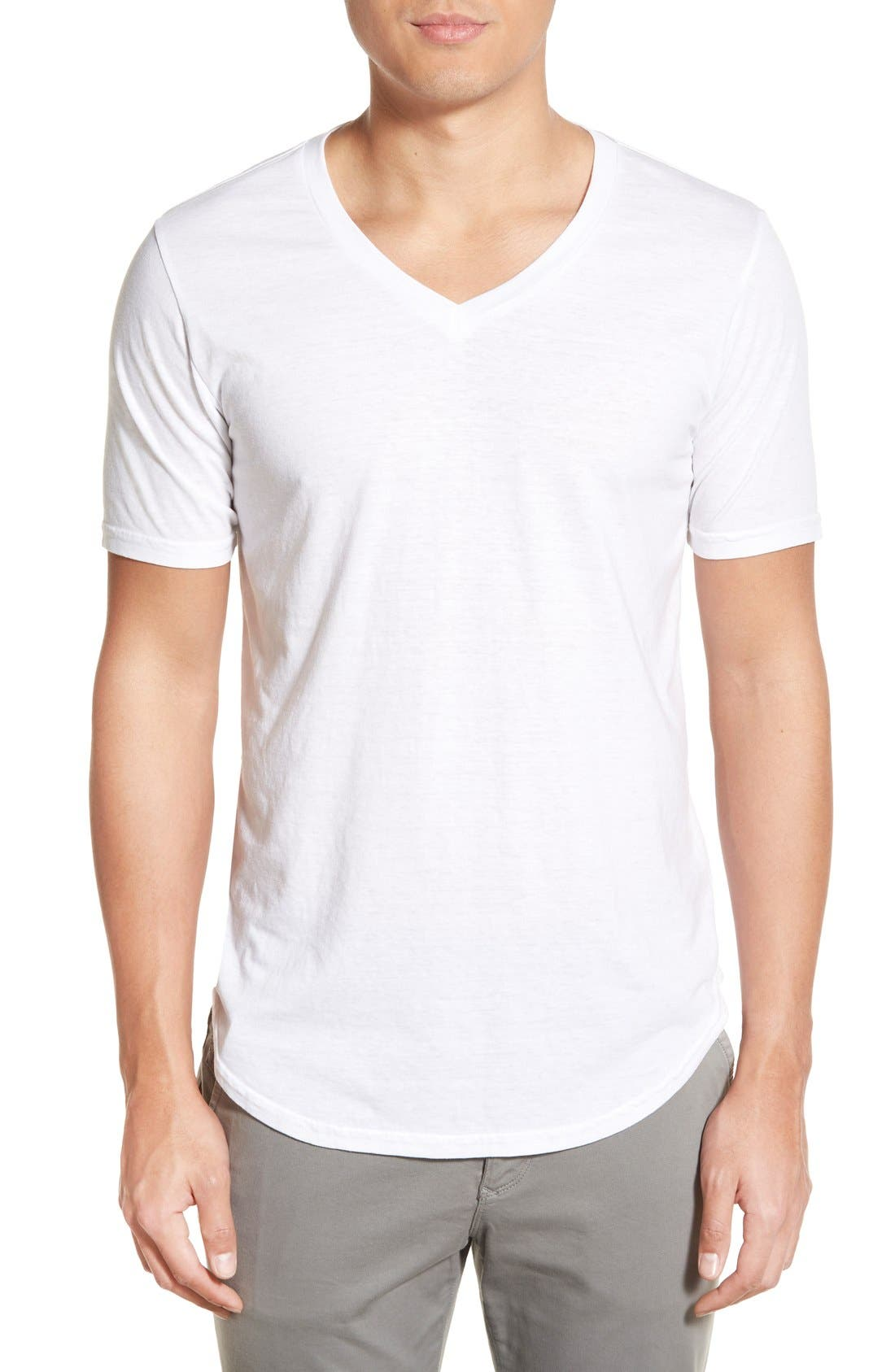 Scallop Triblend V-Neck T-Shirt,                             Main thumbnail 18, color,